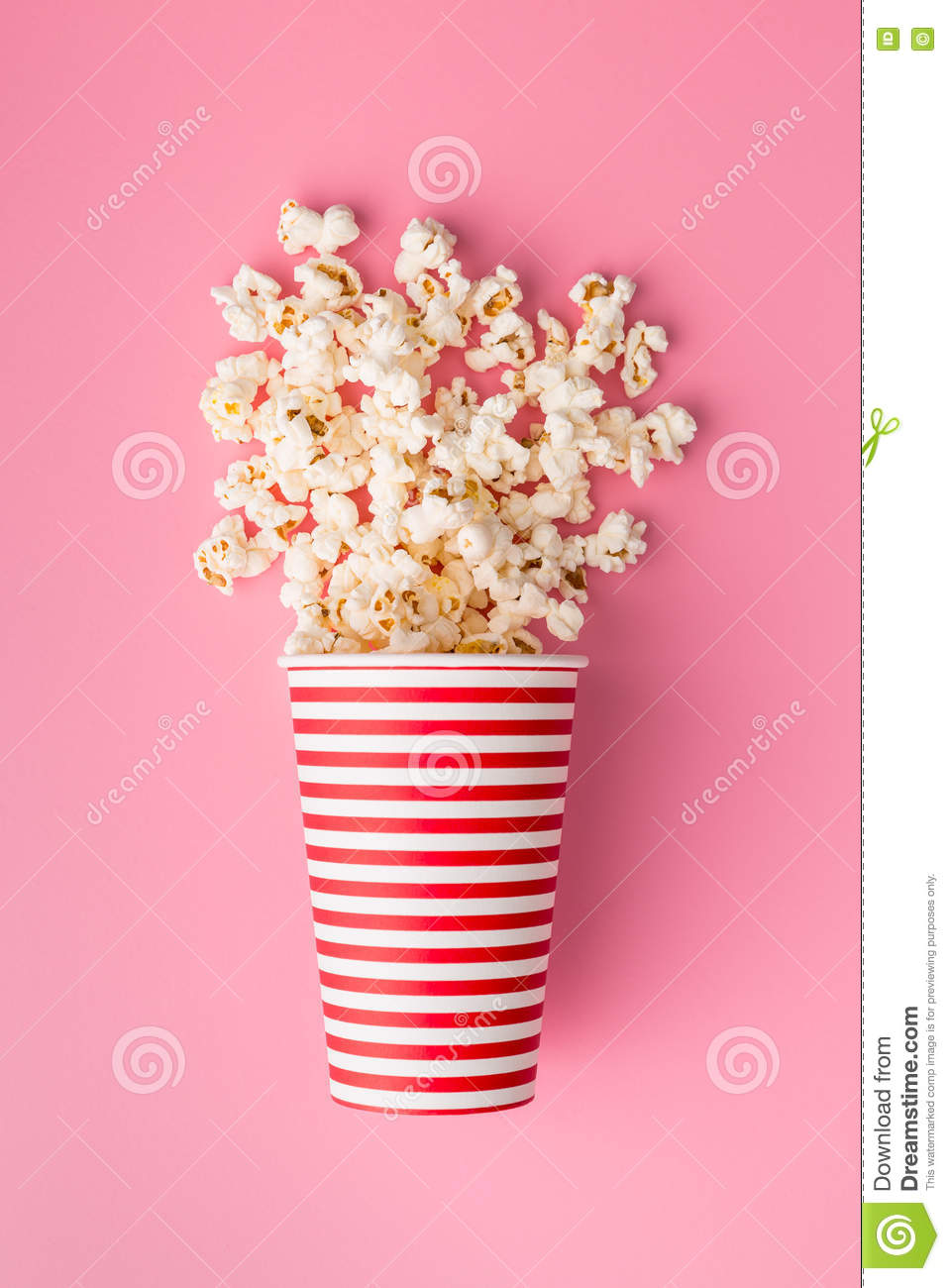 Download Popcorn in paper cup stock image. Image of fresh, salty - 77764713