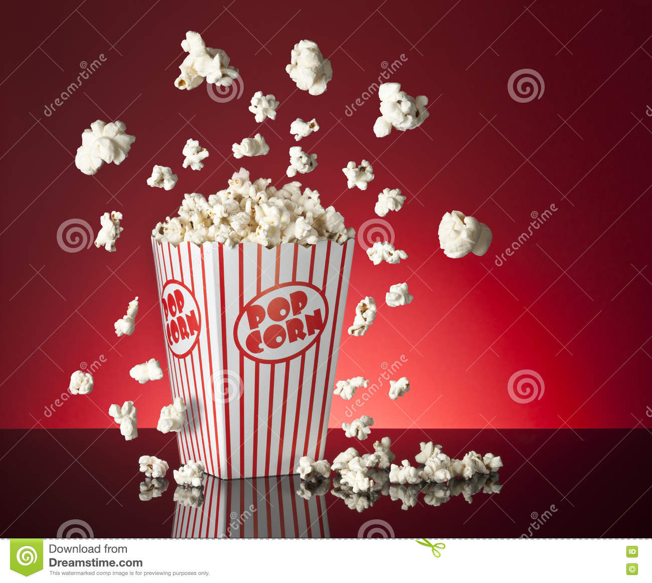 Popcorn Wallpaper: Popcorn Red Background Stock Image. Image Of Event