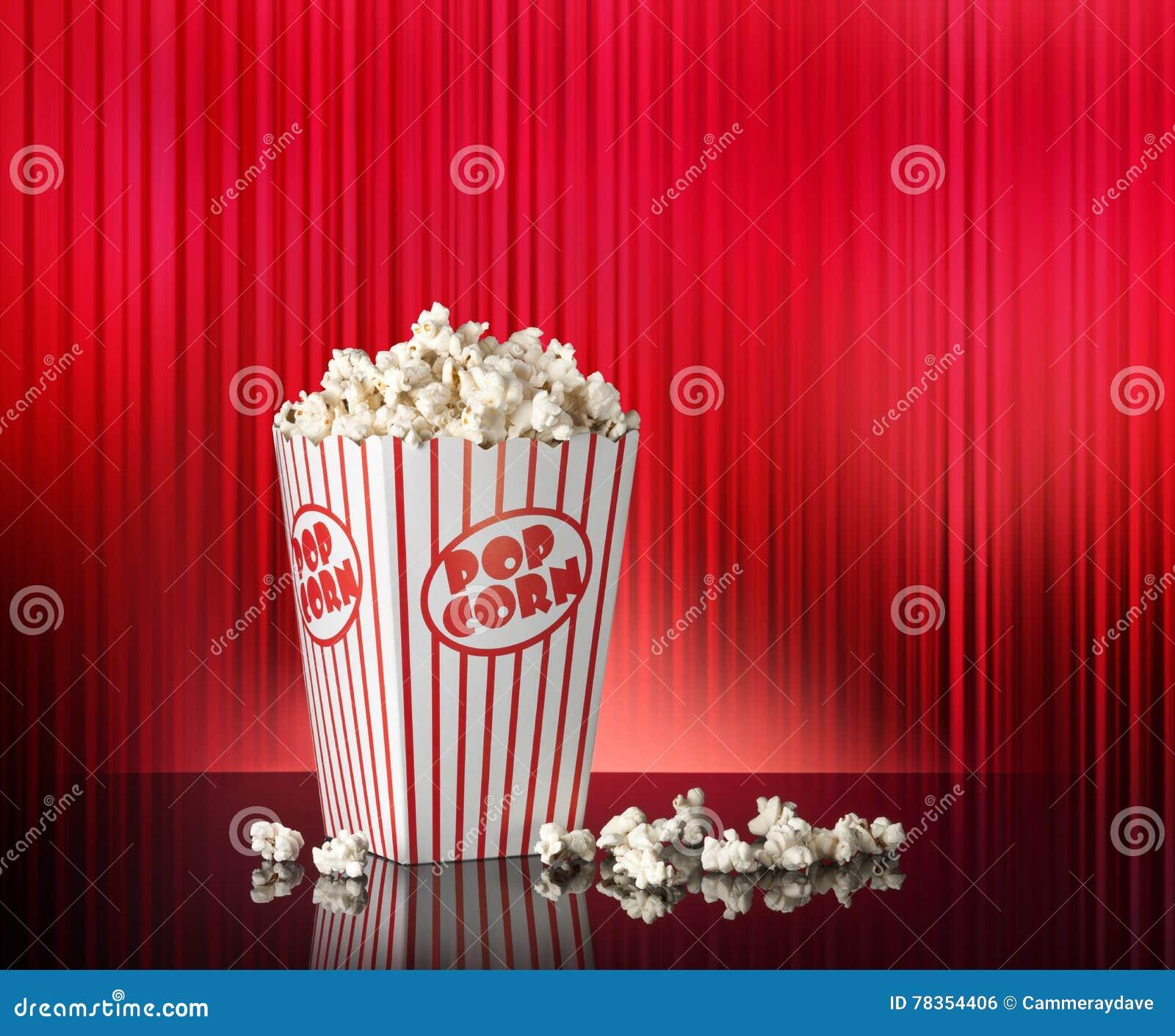 Popcorn Wallpaper: Popcorn Red Movie Theater Background Stock Photo