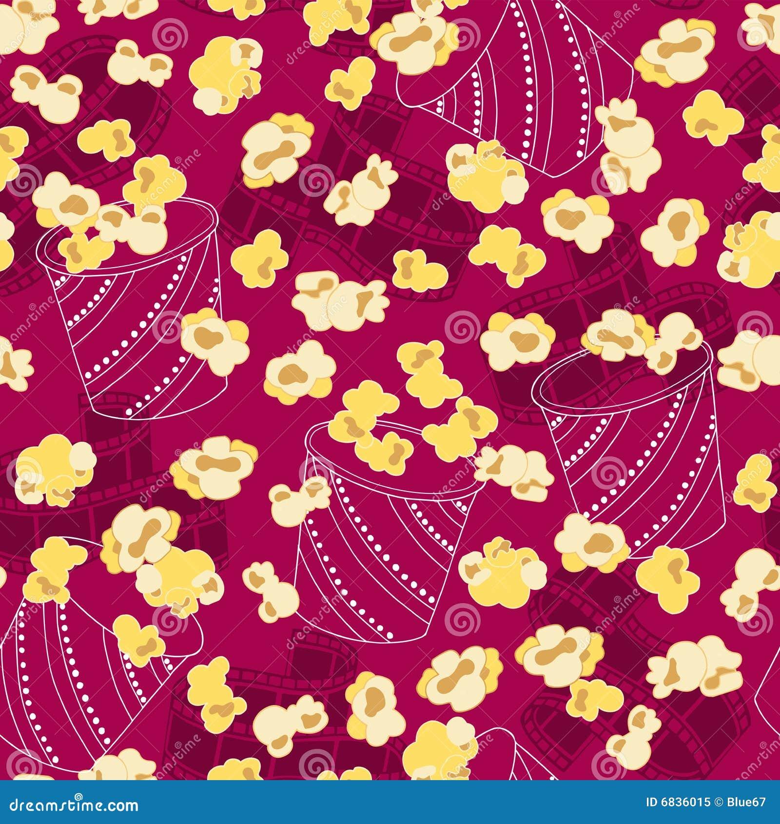 Popcorn Wallpaper: Popcorn Seamless Repeat Pattern Vector Royalty Free Stock