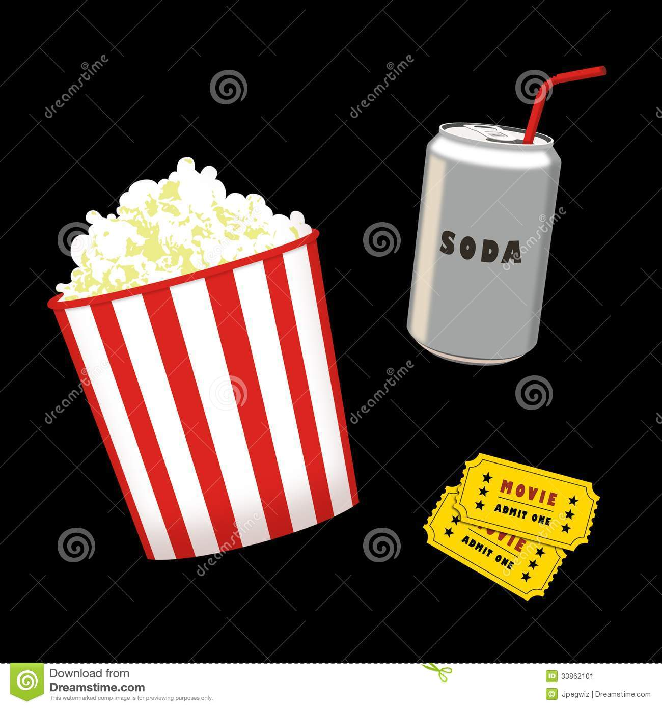 Popcorn And Soda Stock Image - Image: 33862101