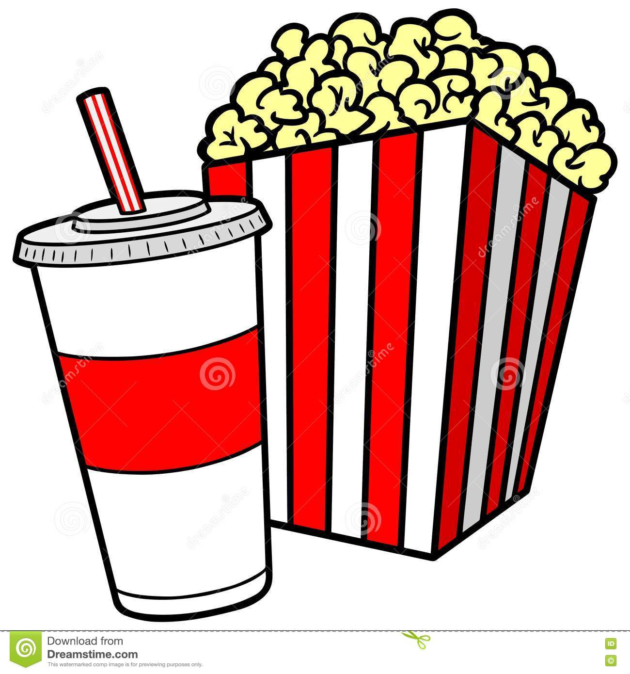 Popcorn And Soda Stock Vector Illustration Of Film Straw 72946437