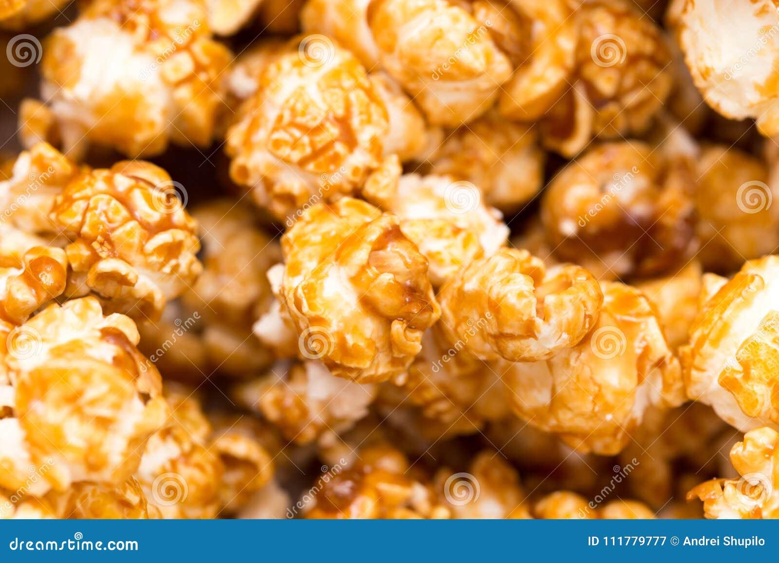 Popcorn som en bakgrund Makro
