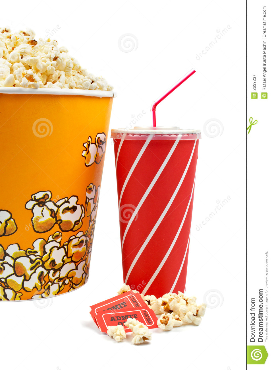 Image Gallery movie popcorn and soda