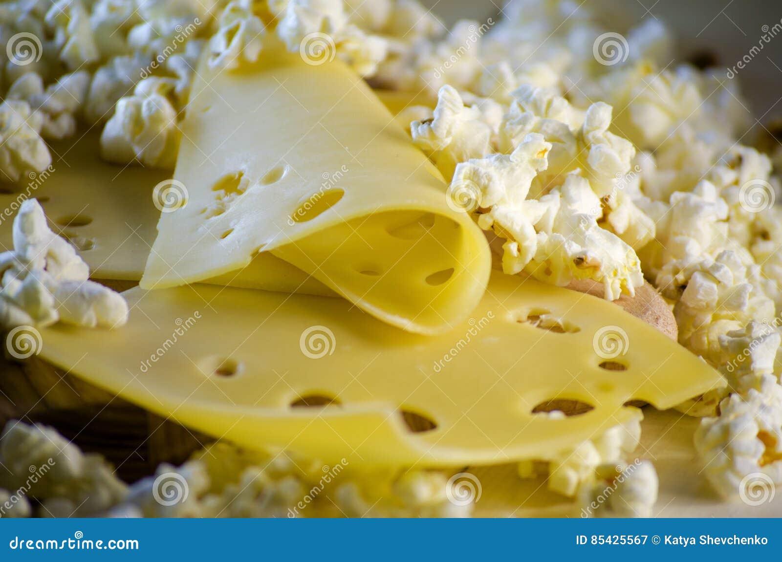 Popcorn und Käse