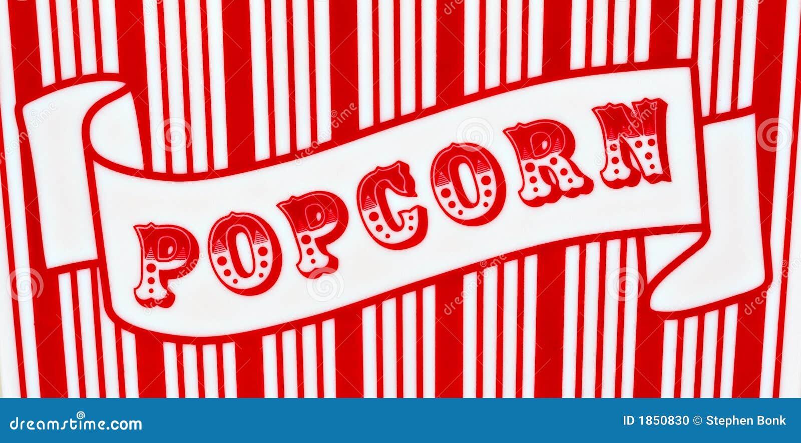 Popcorn Zeichen Stockfoto Bild Von Makro Kinos Film