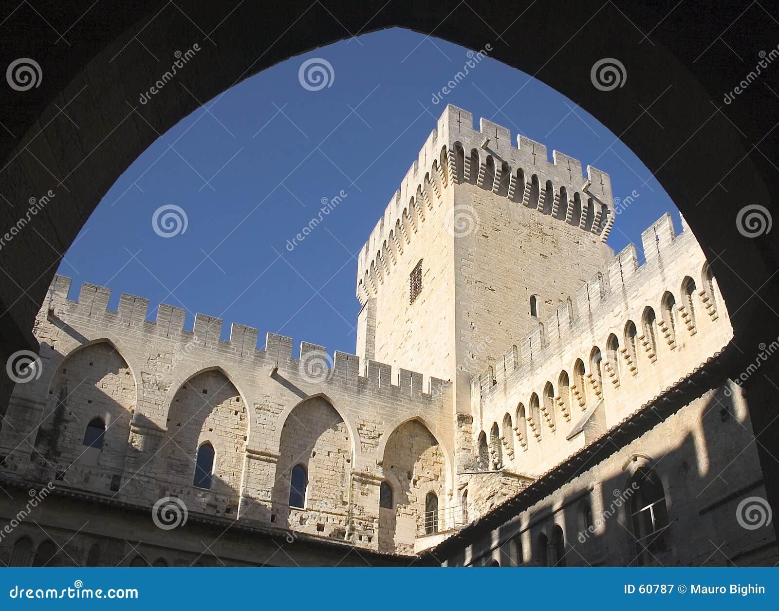 Popes дворца avignon Франции