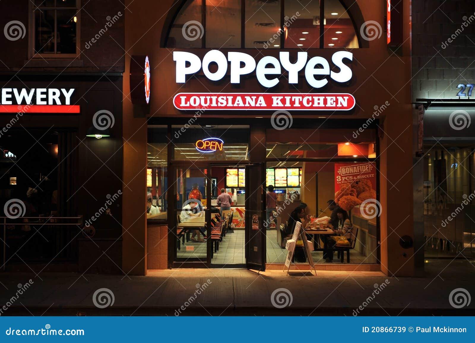 Popeyes Louisiana Kitchen Editorial Stock Image Image 20866739