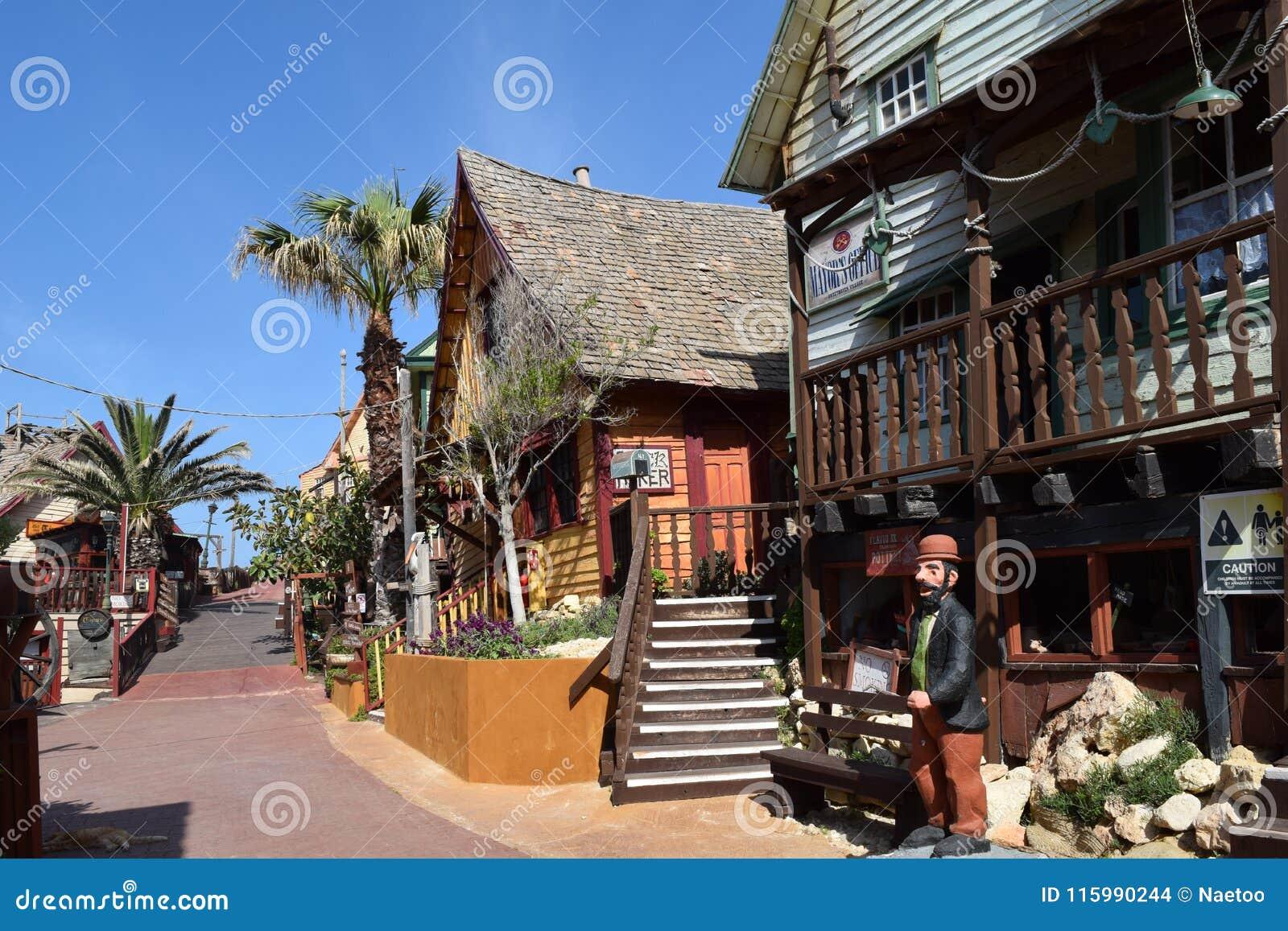 Popeye Village, Filmset Family Park, Island Malta ...