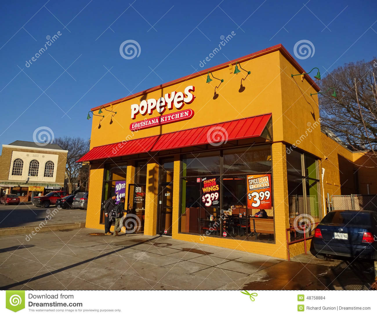 Popeyes Fast Food In Washington Dc Editorial Stock Image