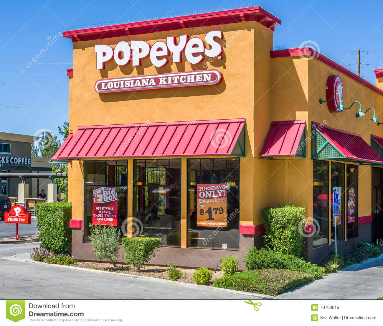 Popeyes Louisiana Kitchen Food popeyes louisiana kitchen exterior editorial photo - image: 70760616