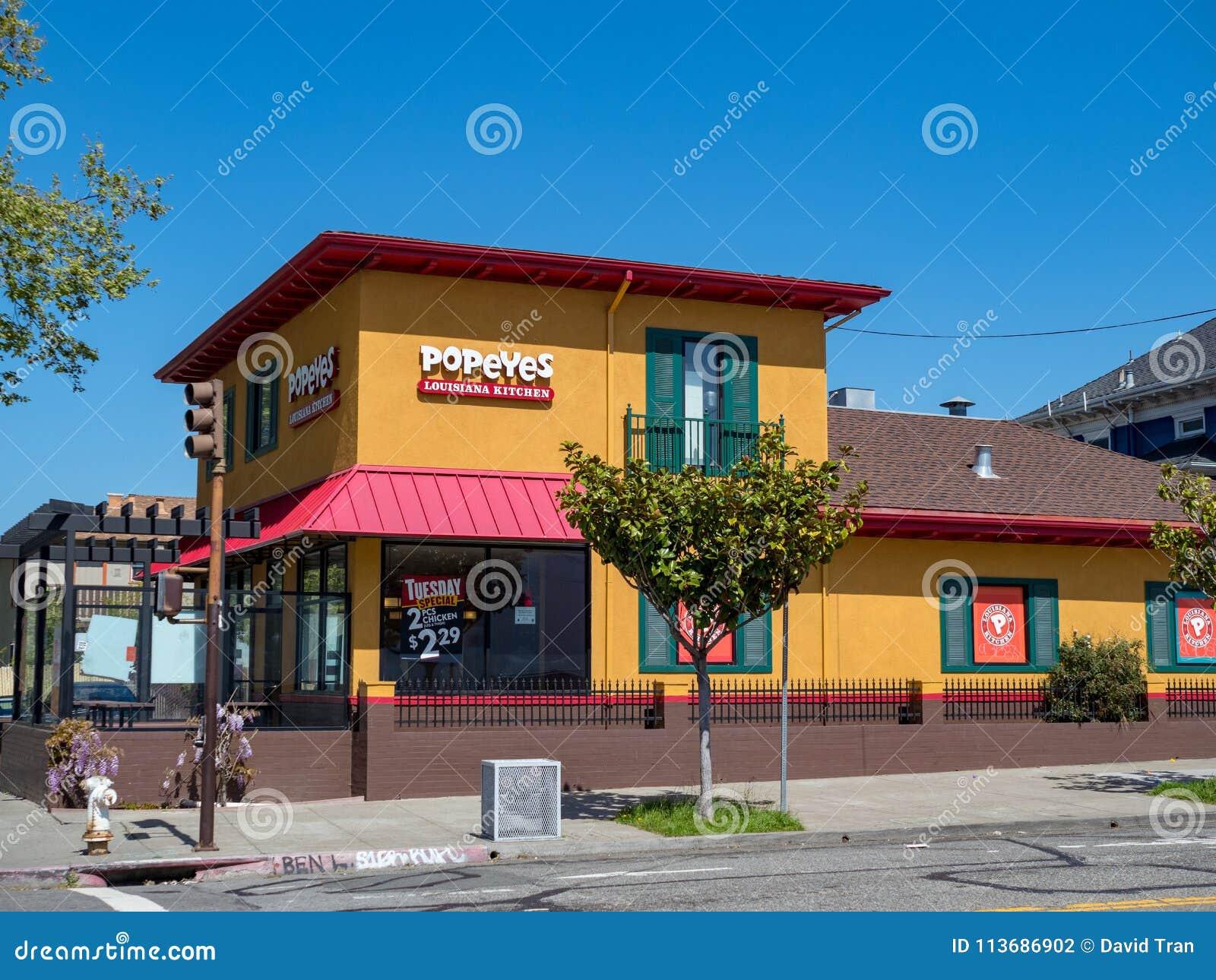 Popeyes-Schnellrestaurant in Berkeley, Kalifornien
