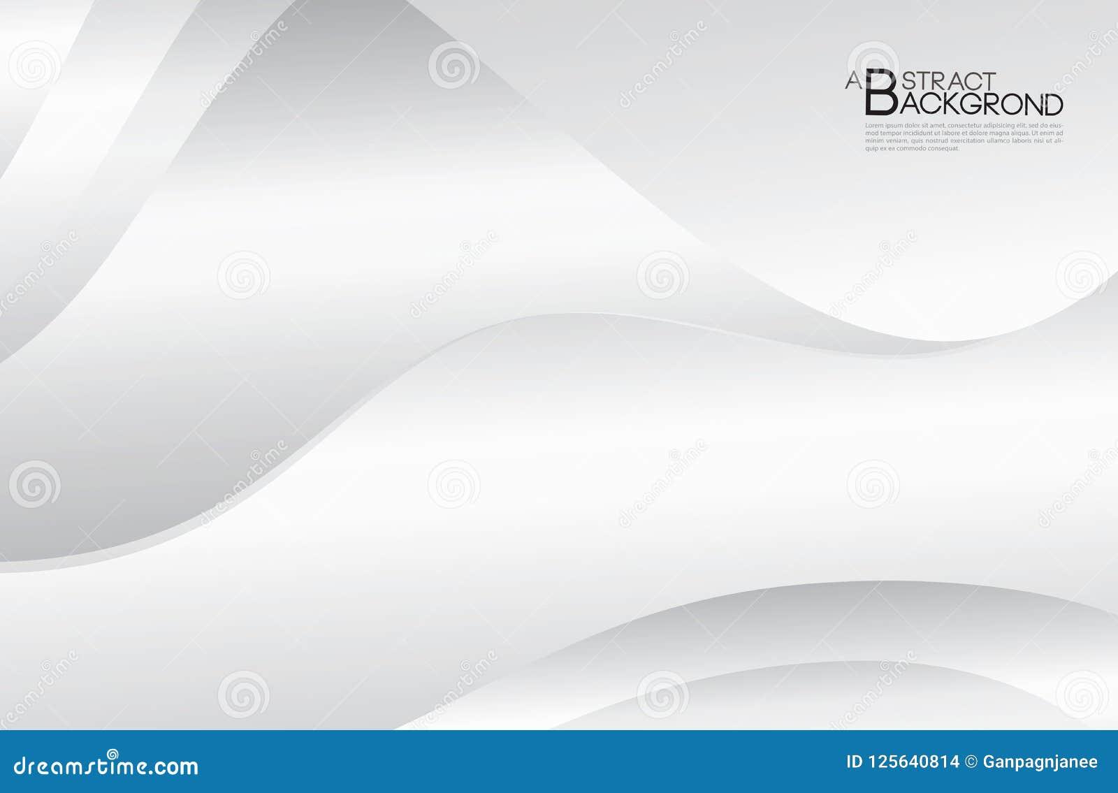 Popielatego abstrakcjonistycznego tła wektorowa ilustracja, okładkowy projekta szablon, Srebny Koszowy wektor, biznesowy ulotka u