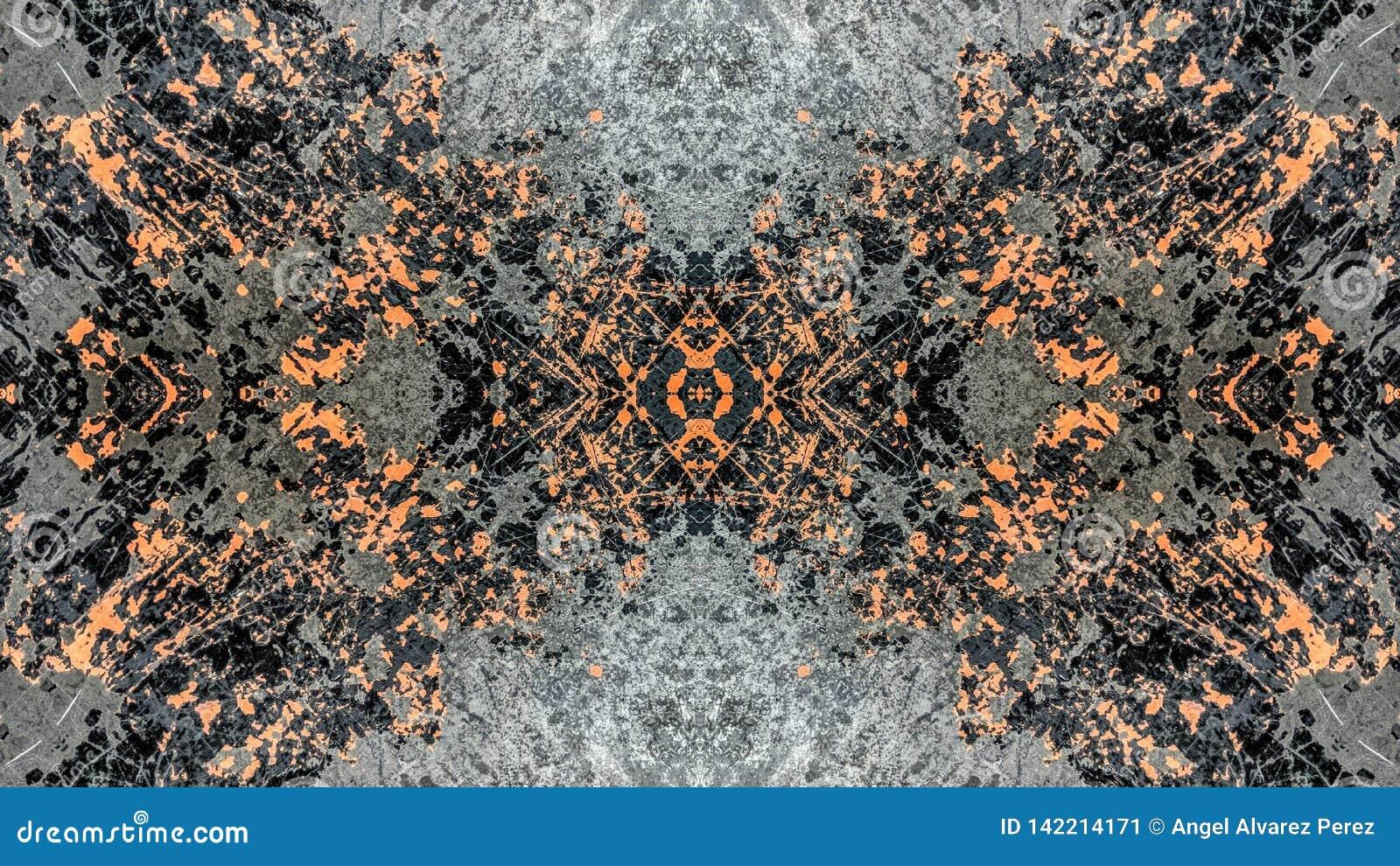Popielatego i pomara?czowego pasiastego grunge abstrakcjonistyczny projekt