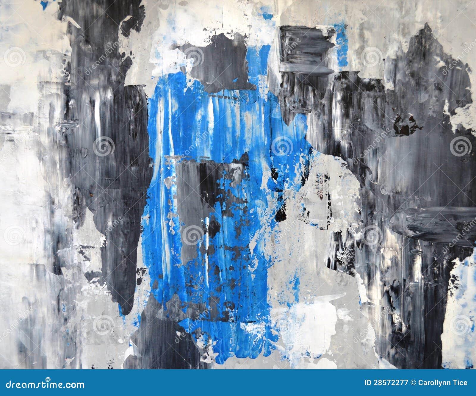 Popielaty i Błękitny Abstrakcjonistycznej sztuki obraz