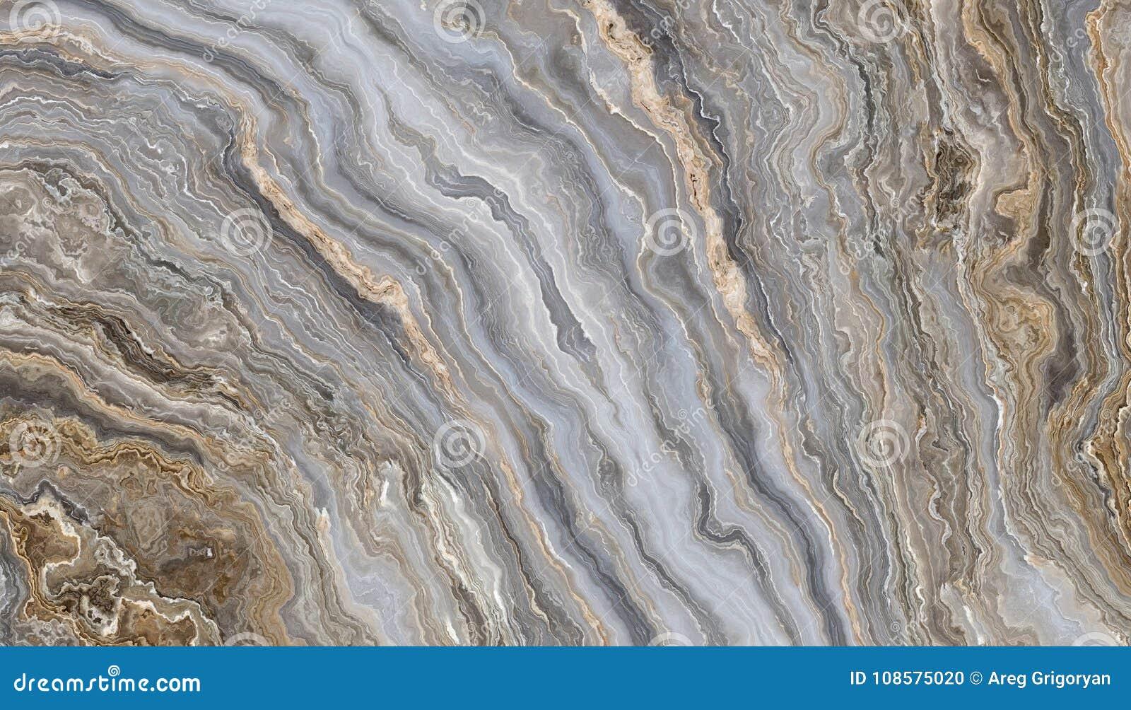 Popielaty kędzierzawy marmur