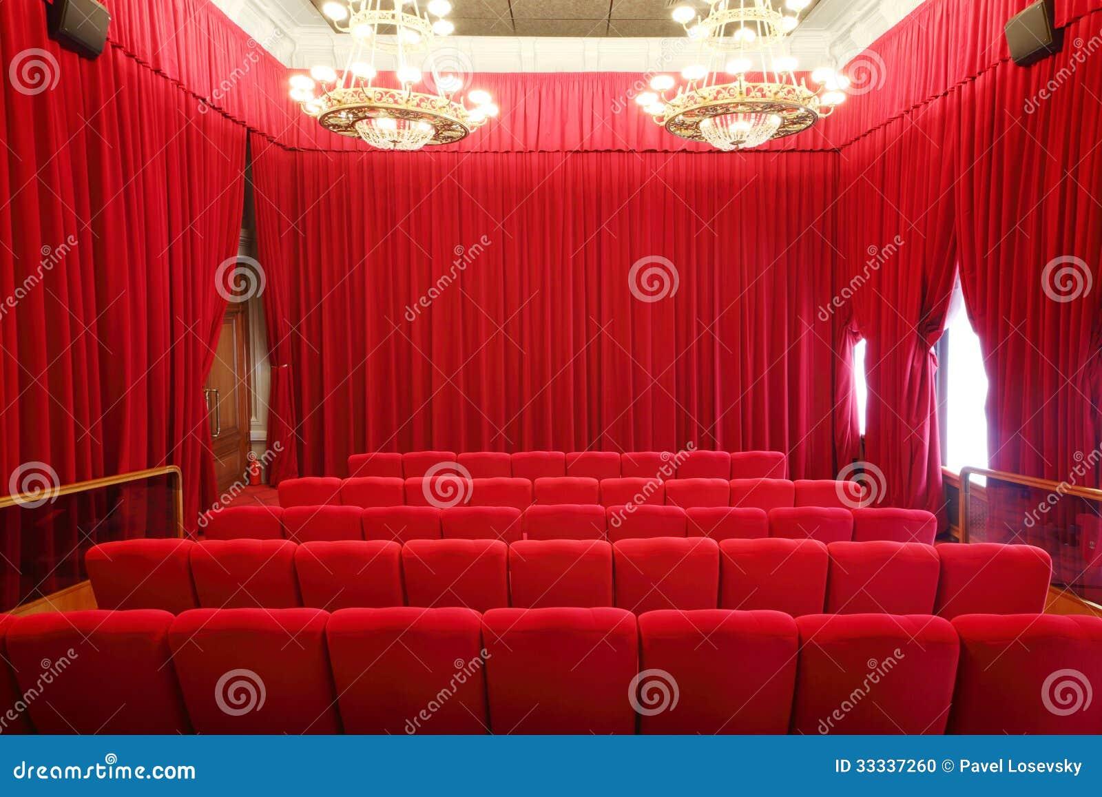 Popiera siedzenia w obrazka przedstawienia sala