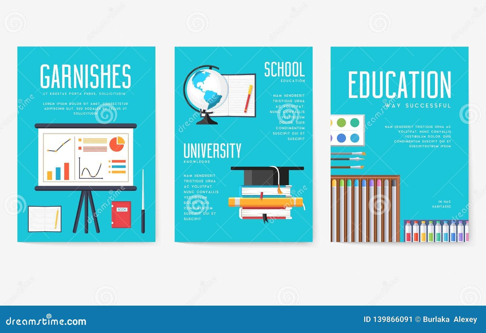 Popiera szkół ewidencyjne karty ustawiać Studencki szablon flyear, magazyny, plakaty, książkowa pokrywa, sztandary college