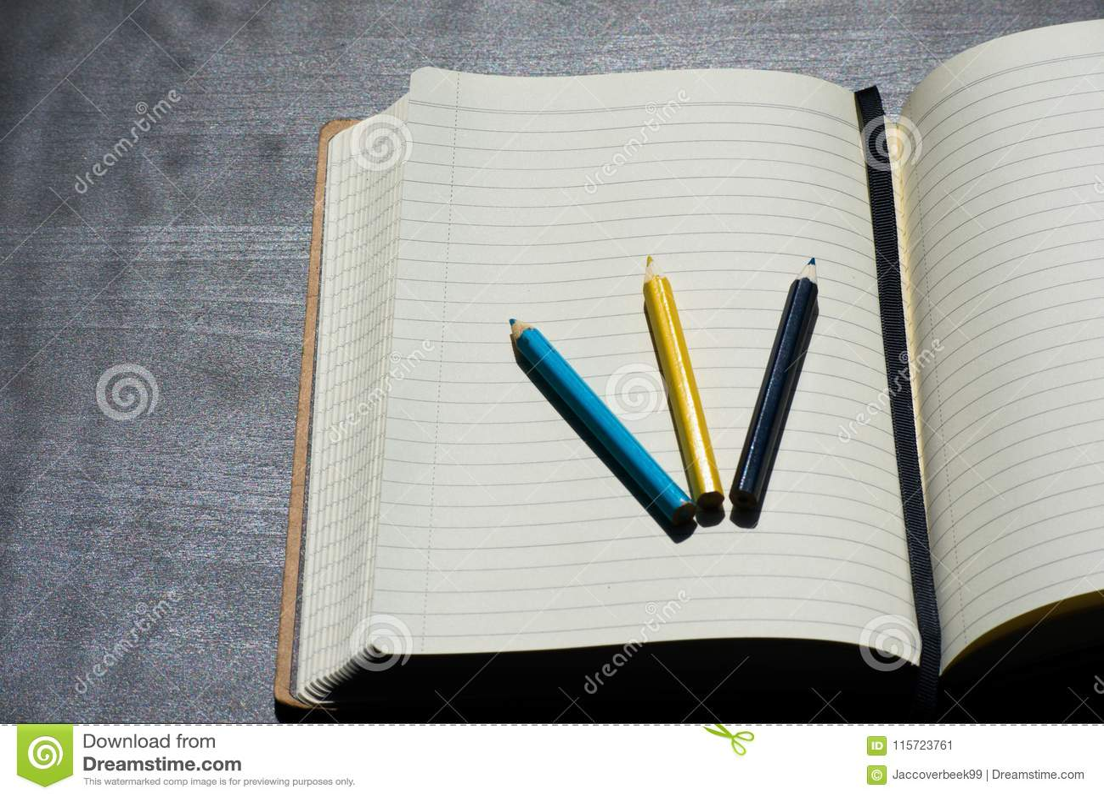Popiera szkoły Noteblock Kredkowego Ołówkowego koloru Błękitny Żółty notatnik