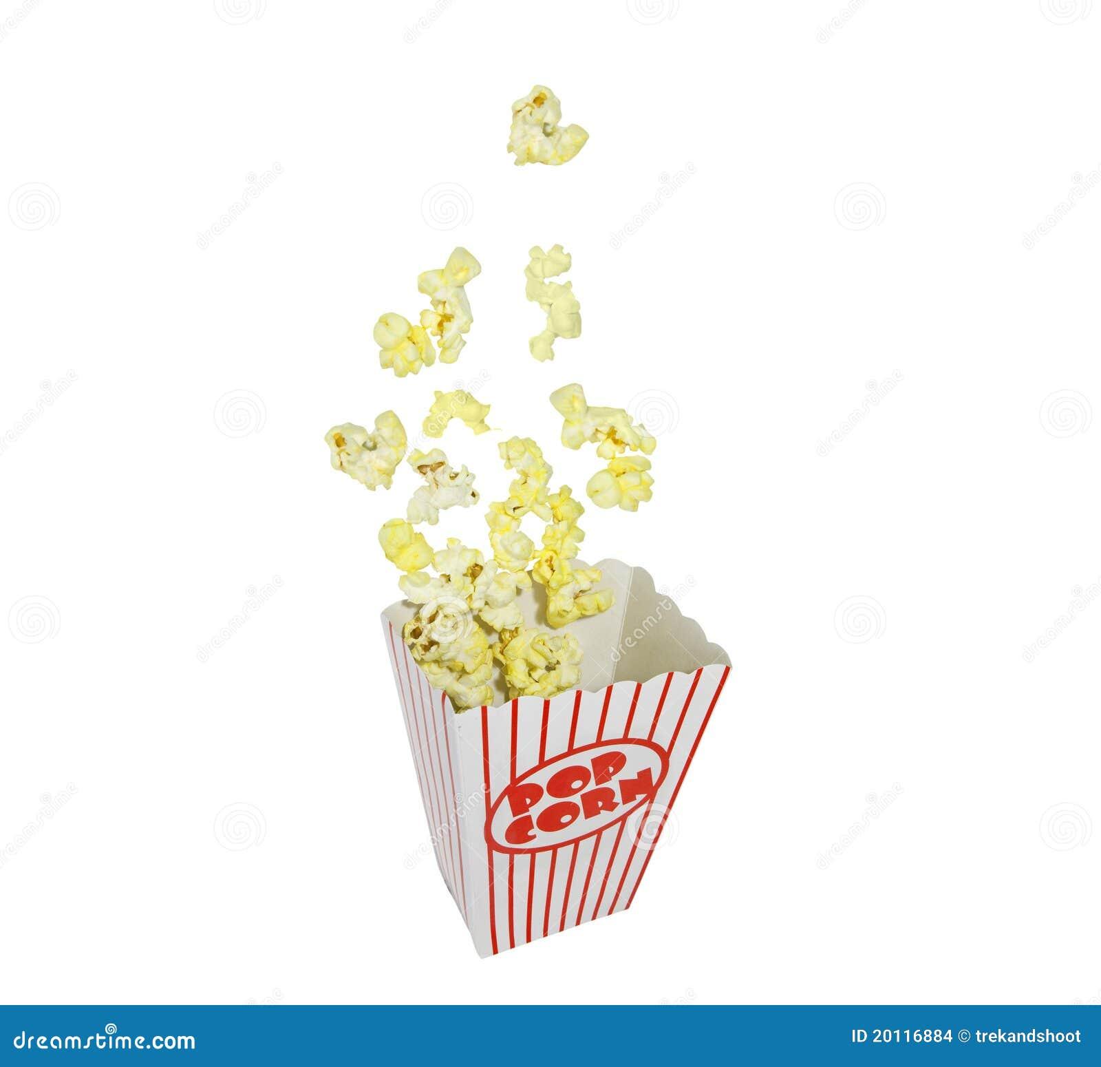 Popcorn Popping Popping popcorn box stock