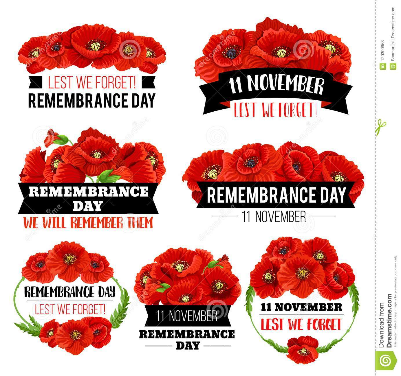 Red poppy flower symbol for remembrance day design stock vector red poppy flower symbol for remembrance day design mightylinksfo