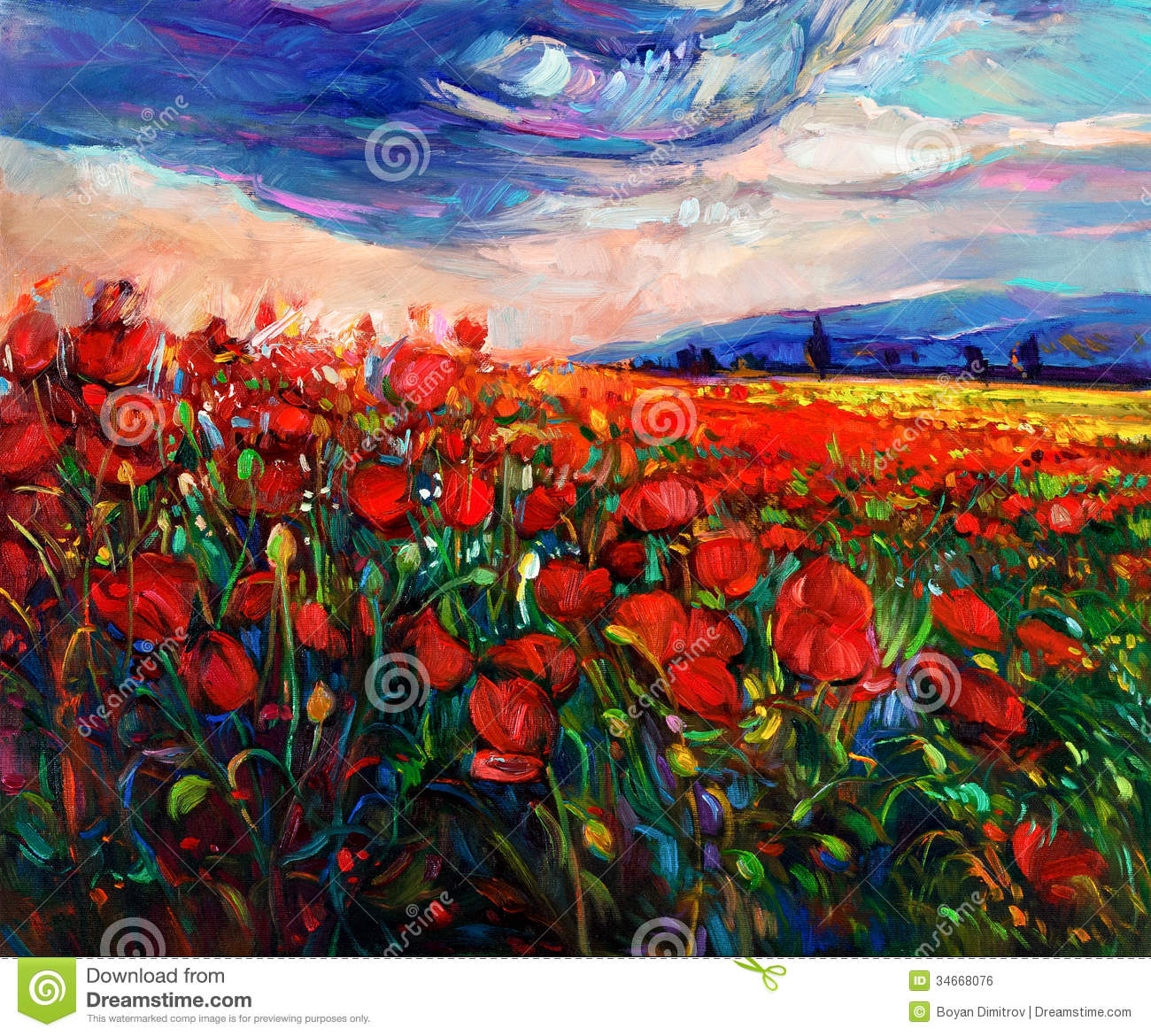 poppy fields stock illustration  image of spring  ocean