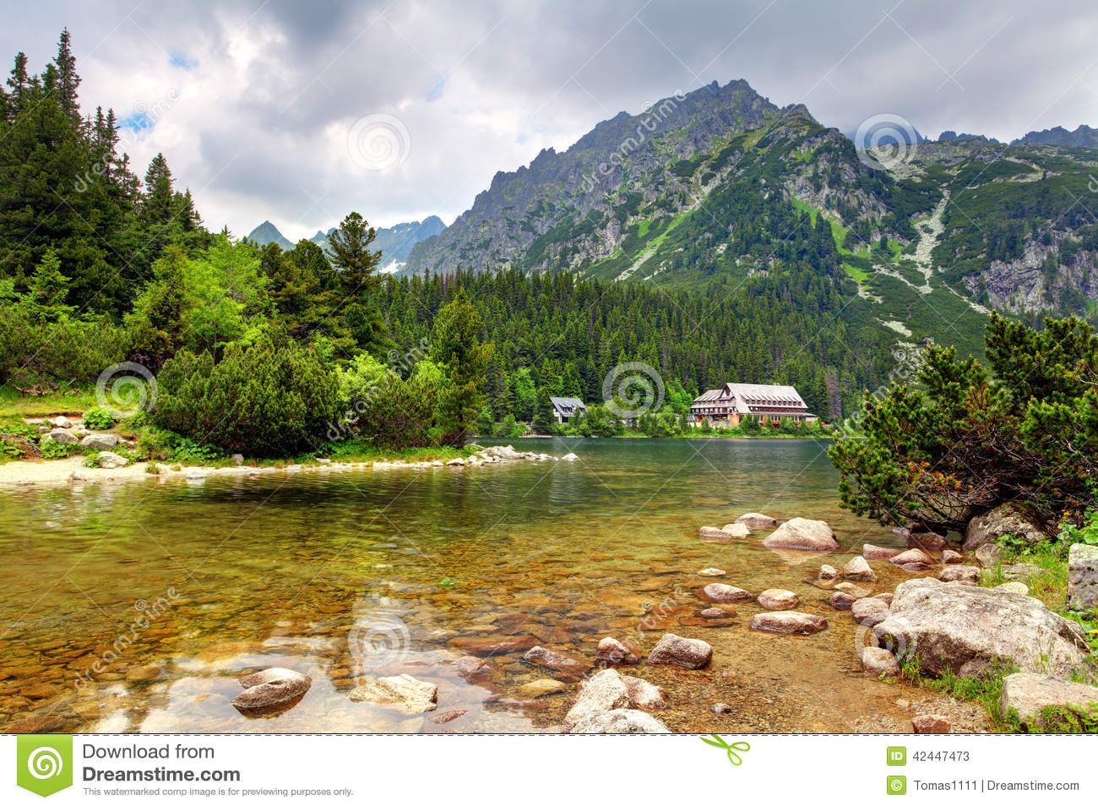 Schone Berglandschaft Im Sommer In Den Alpen, Die Schweiz ...