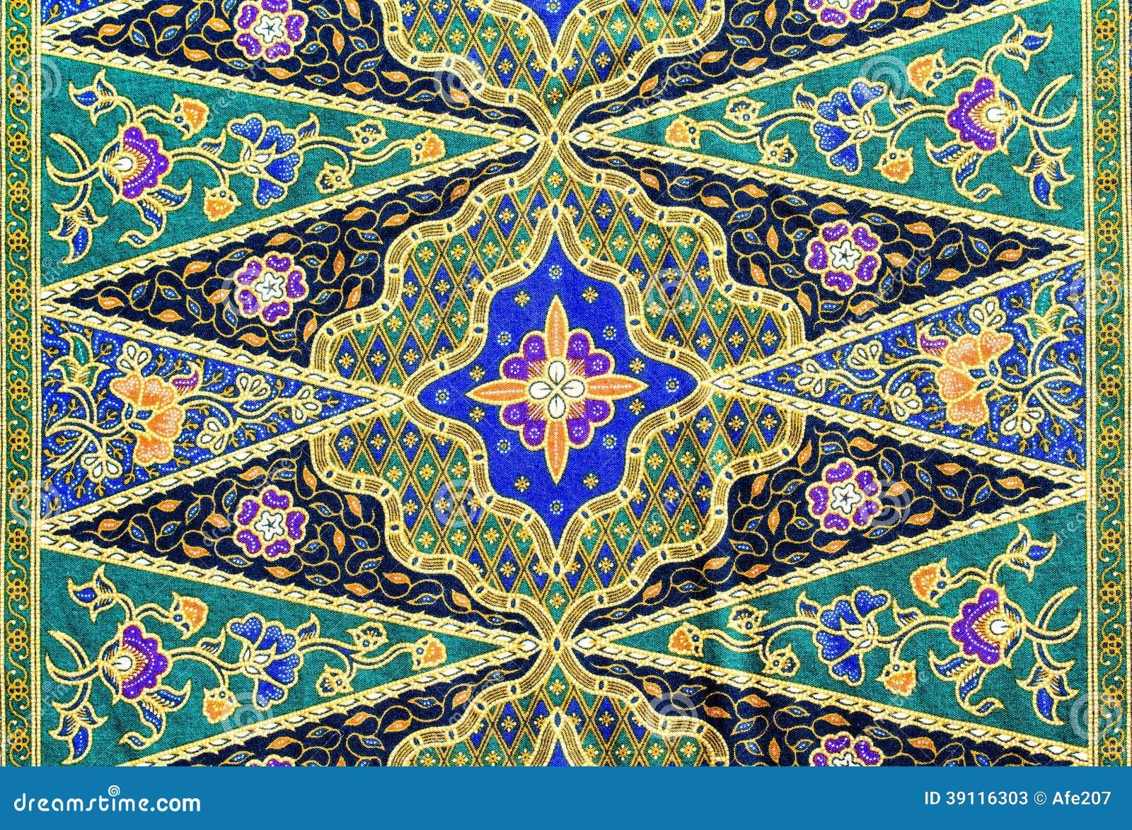 Populaire het patroonachtergrond van batiksarongen