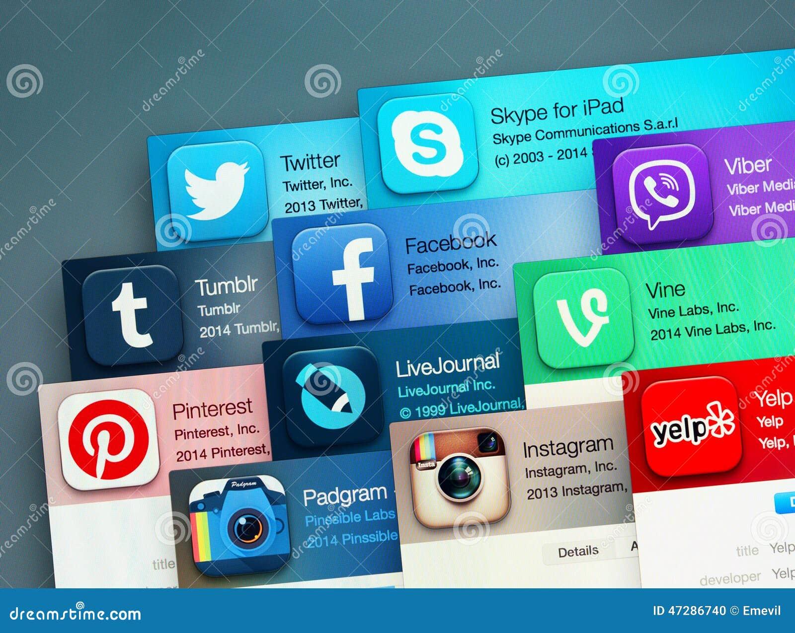 Populaire sociale voorzien van een netwerktoepassingen redactionele afbeelding afbeelding - Een wasruimte voorzien ...