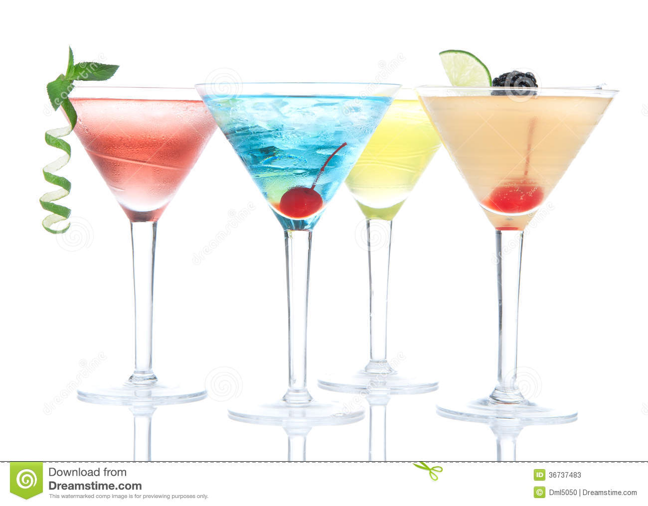Popular alcoholic cocktails composition stock photos for Great alcoholic mixed drinks