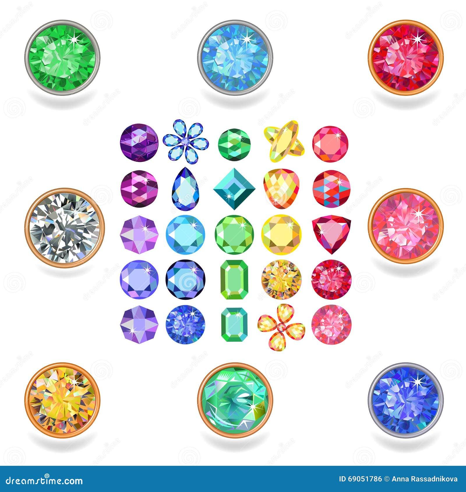 Popular colored gems cuts