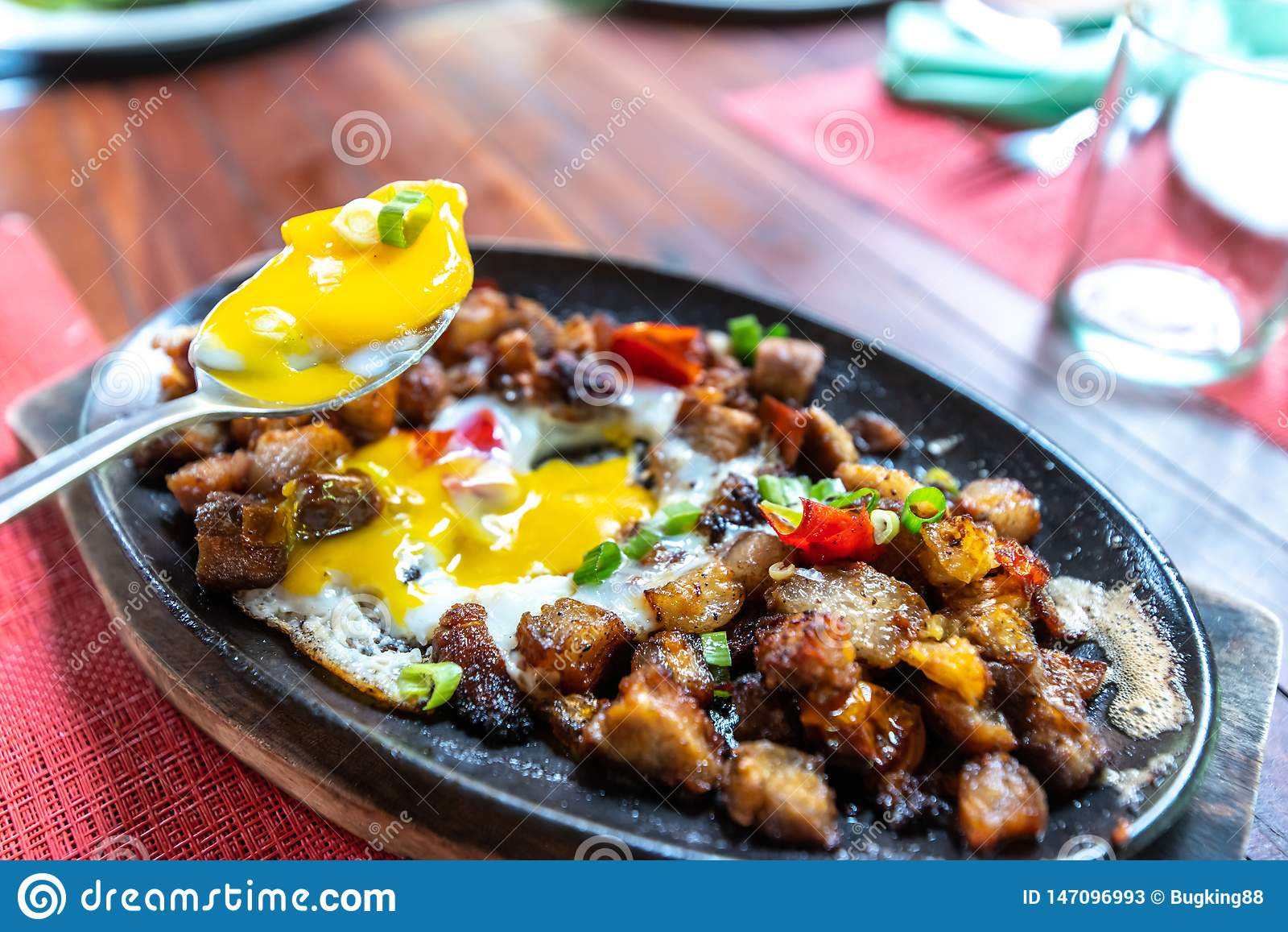 Popular Filipion dish - pork sisig