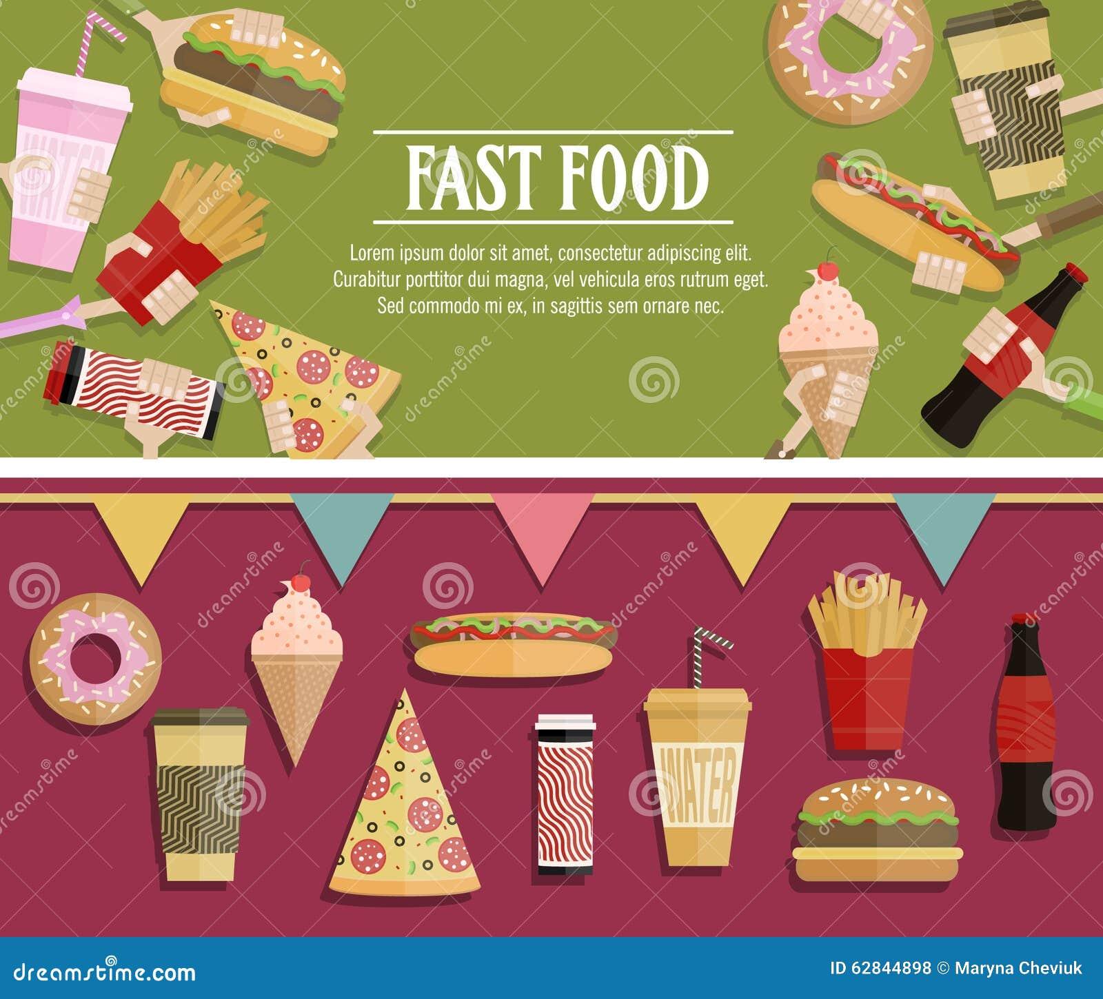Popular Food Web Banner Flat Design Festival Poster