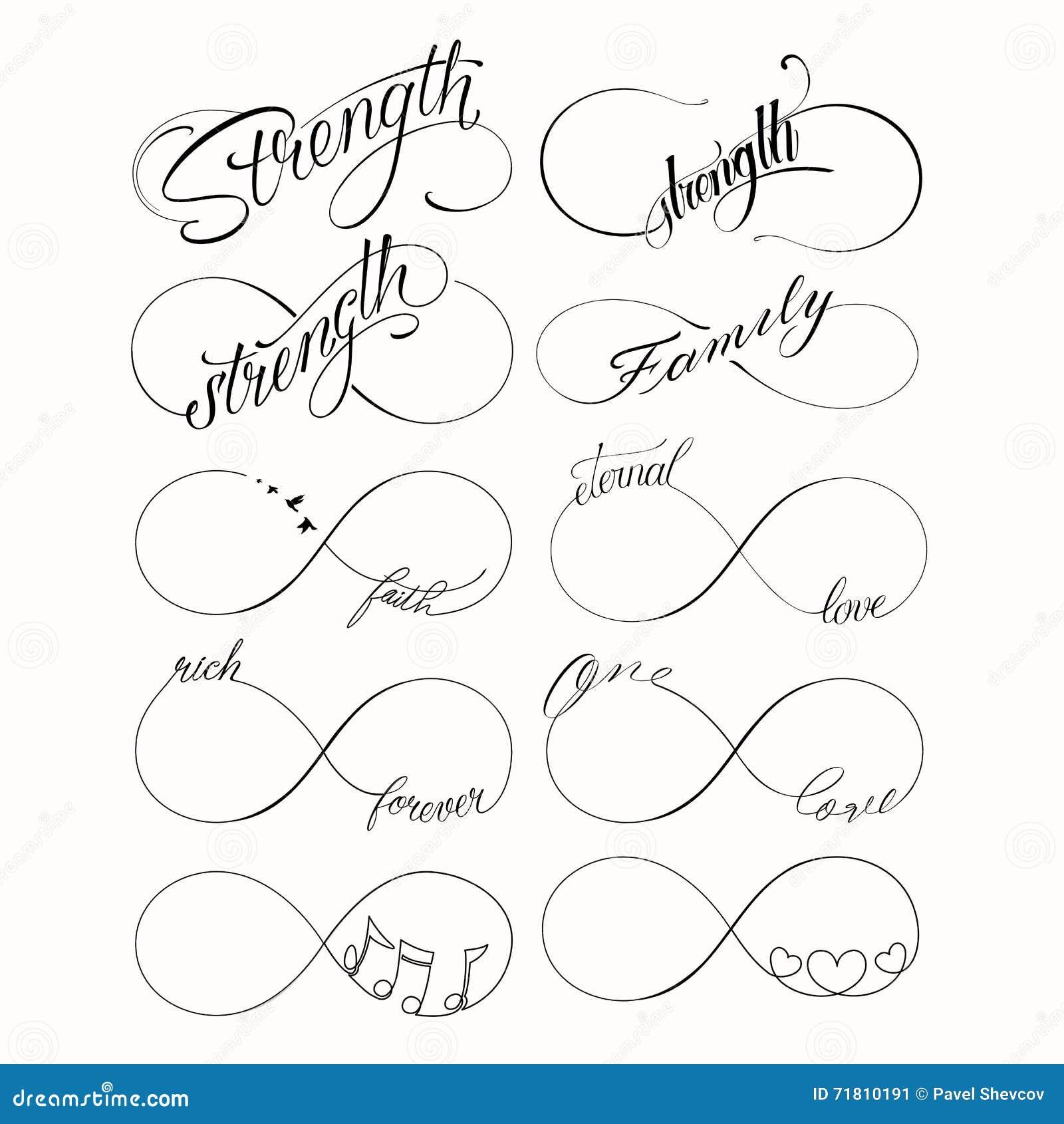 popular infinite tattoo set stock vector illustration of. Black Bedroom Furniture Sets. Home Design Ideas