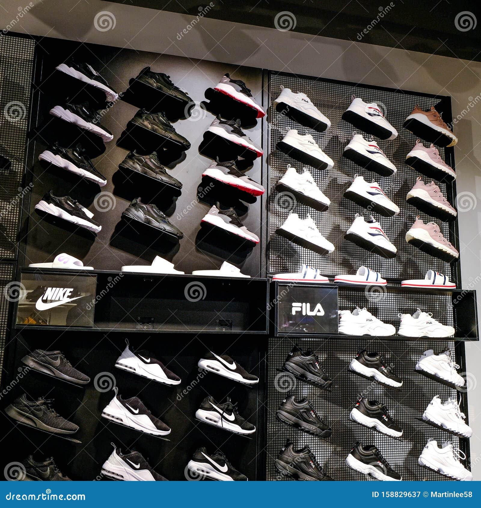 Popular Nike and Fila Fashion Footwear