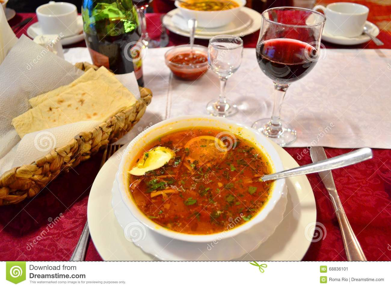 Popular Russian Luxury Food Table Server Stock Image Image Of