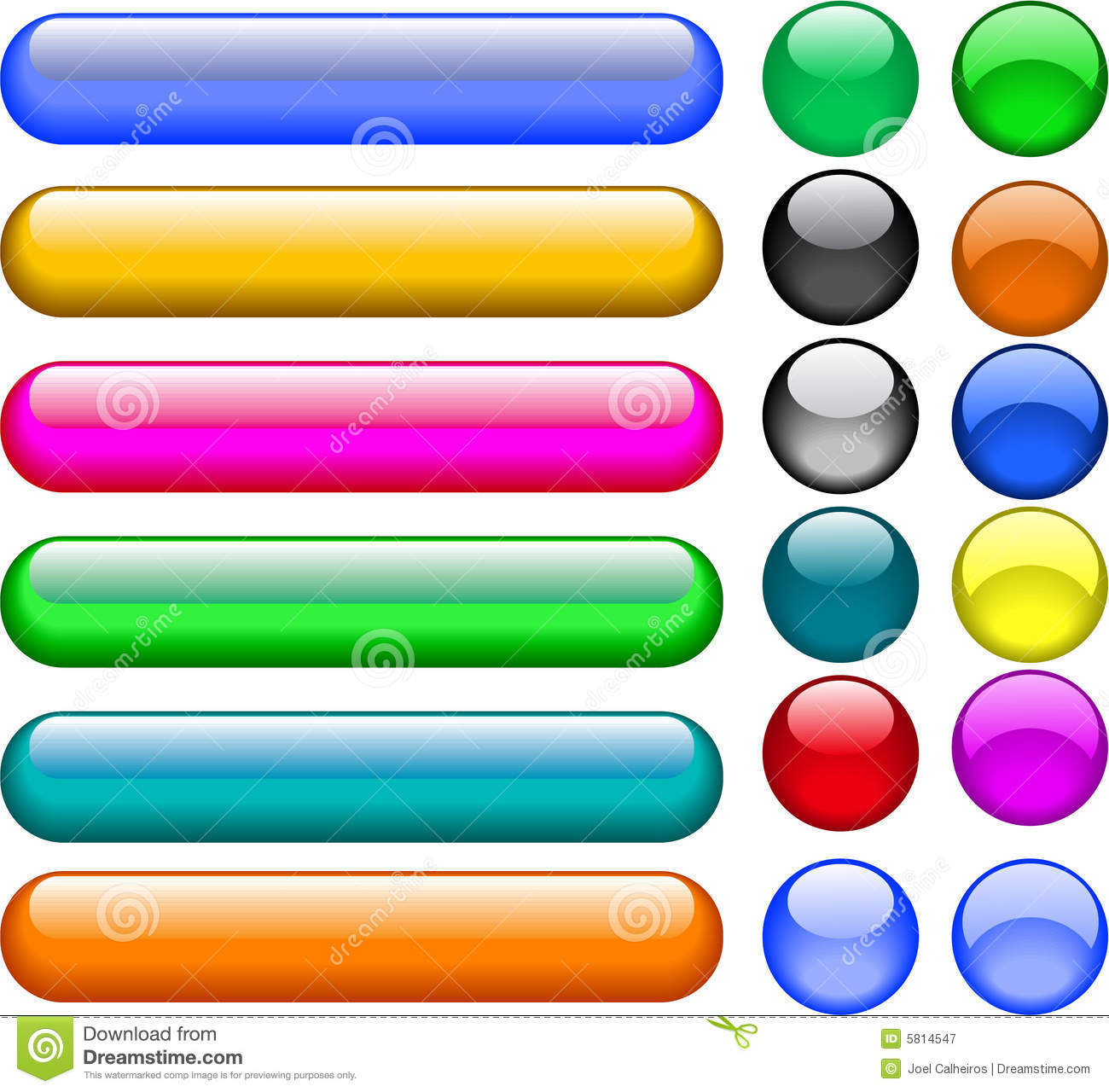 Popular Vector Buttons Royalty Free Stock Photography - Image: 5814547