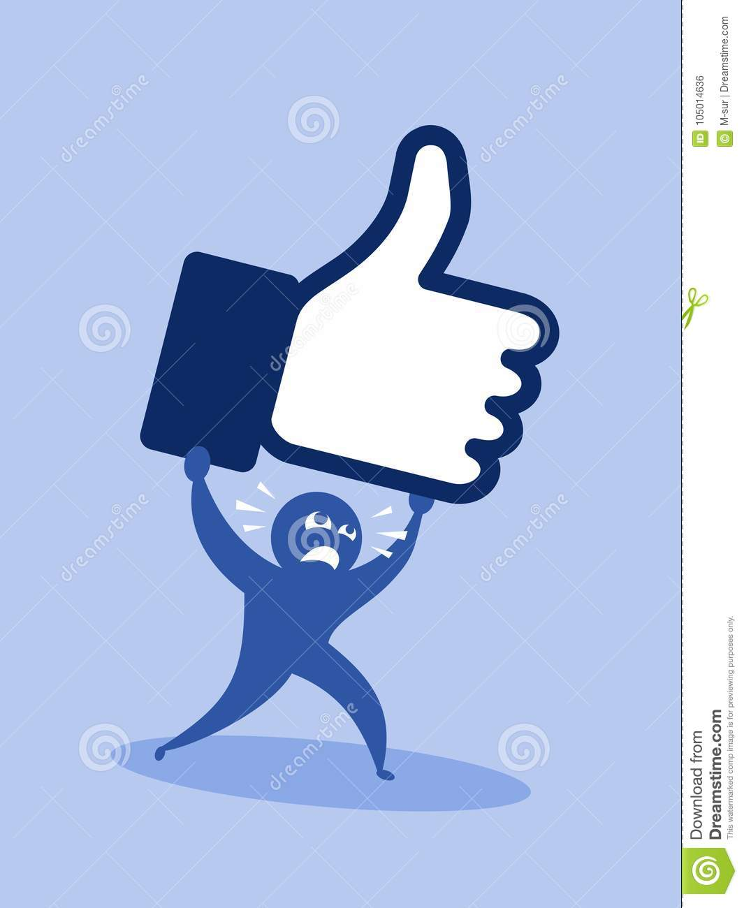 Popularity On Social Networking Sites And Difficulty Stock Vector