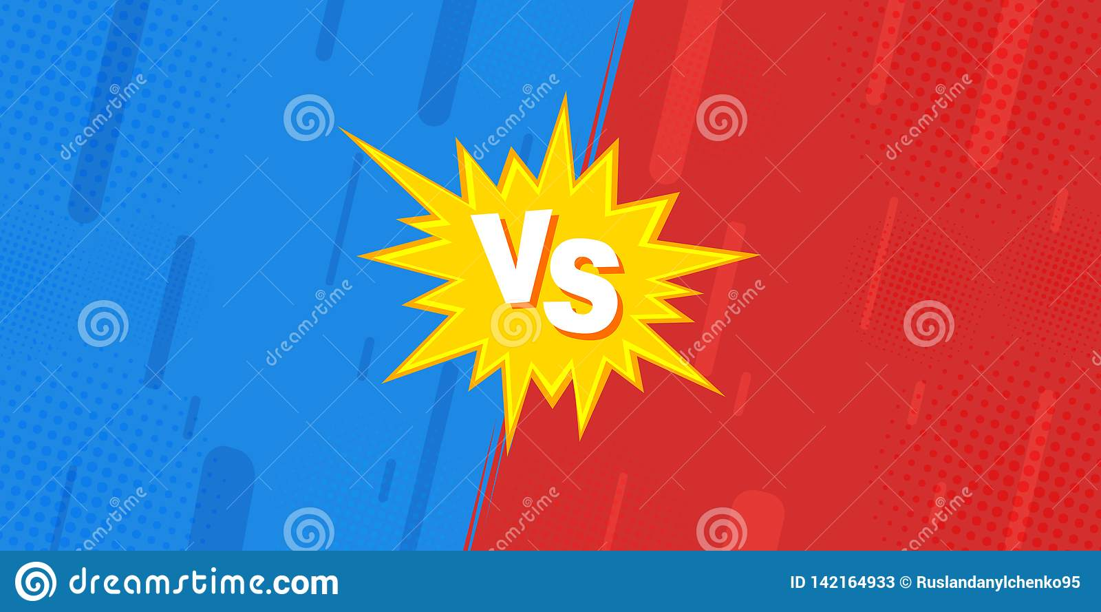 Porównywał prześcieradła VS walka przeciw tło w płaskim ekranie błyskawica, komiczny projekt zrobi halftone