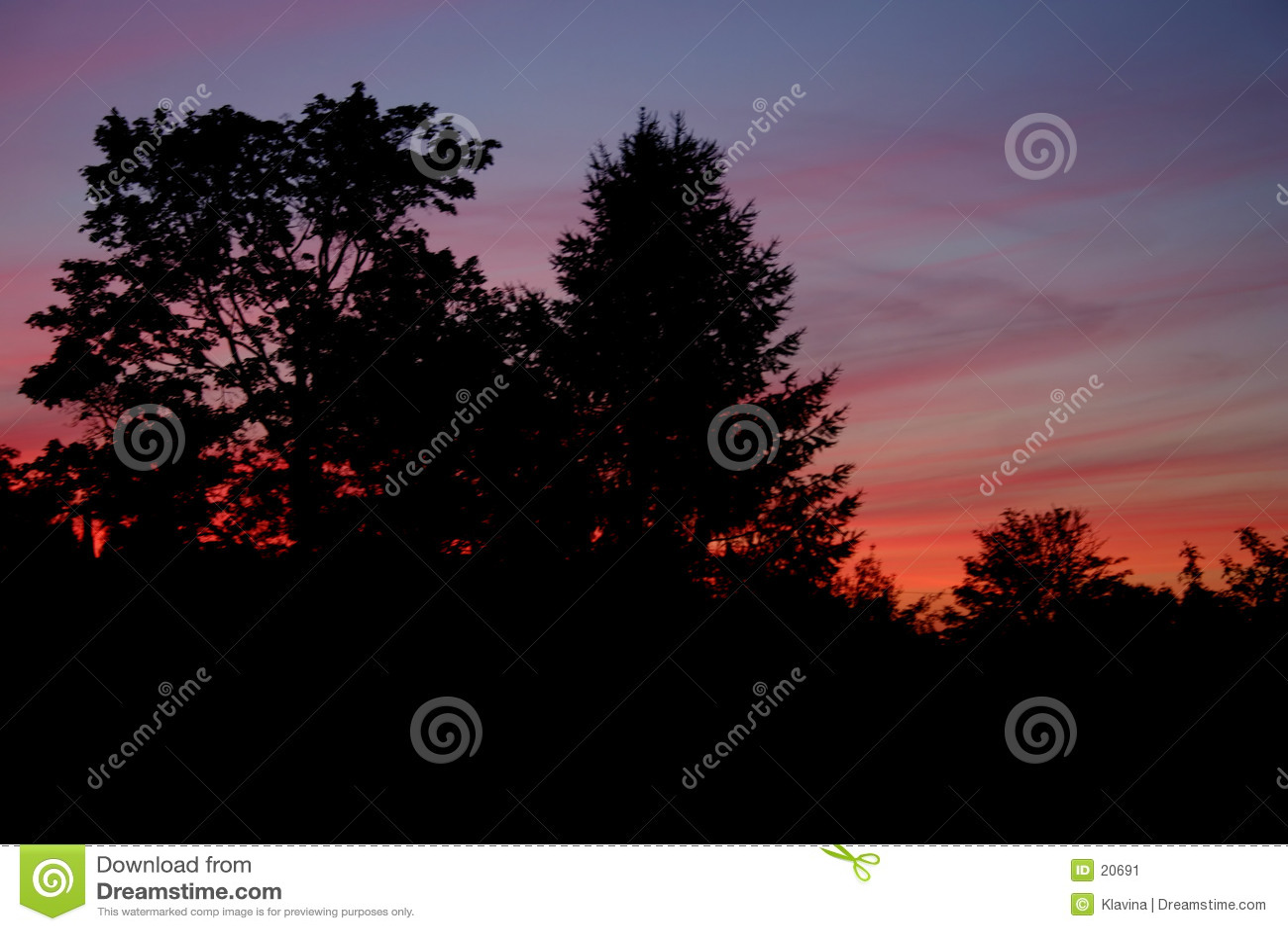 Por do sol colorido
