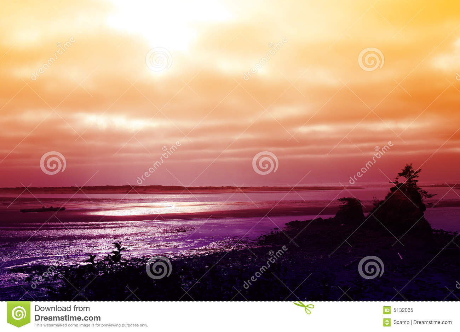 Por do sol da Costa do Pacífico