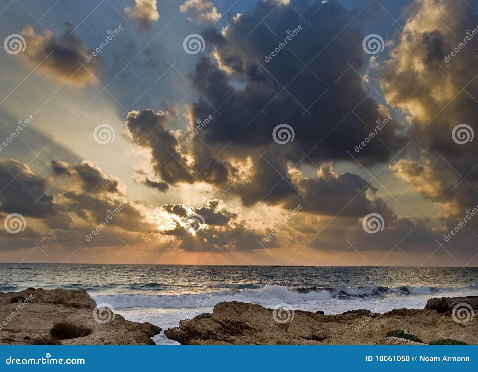 Por do sol da praia