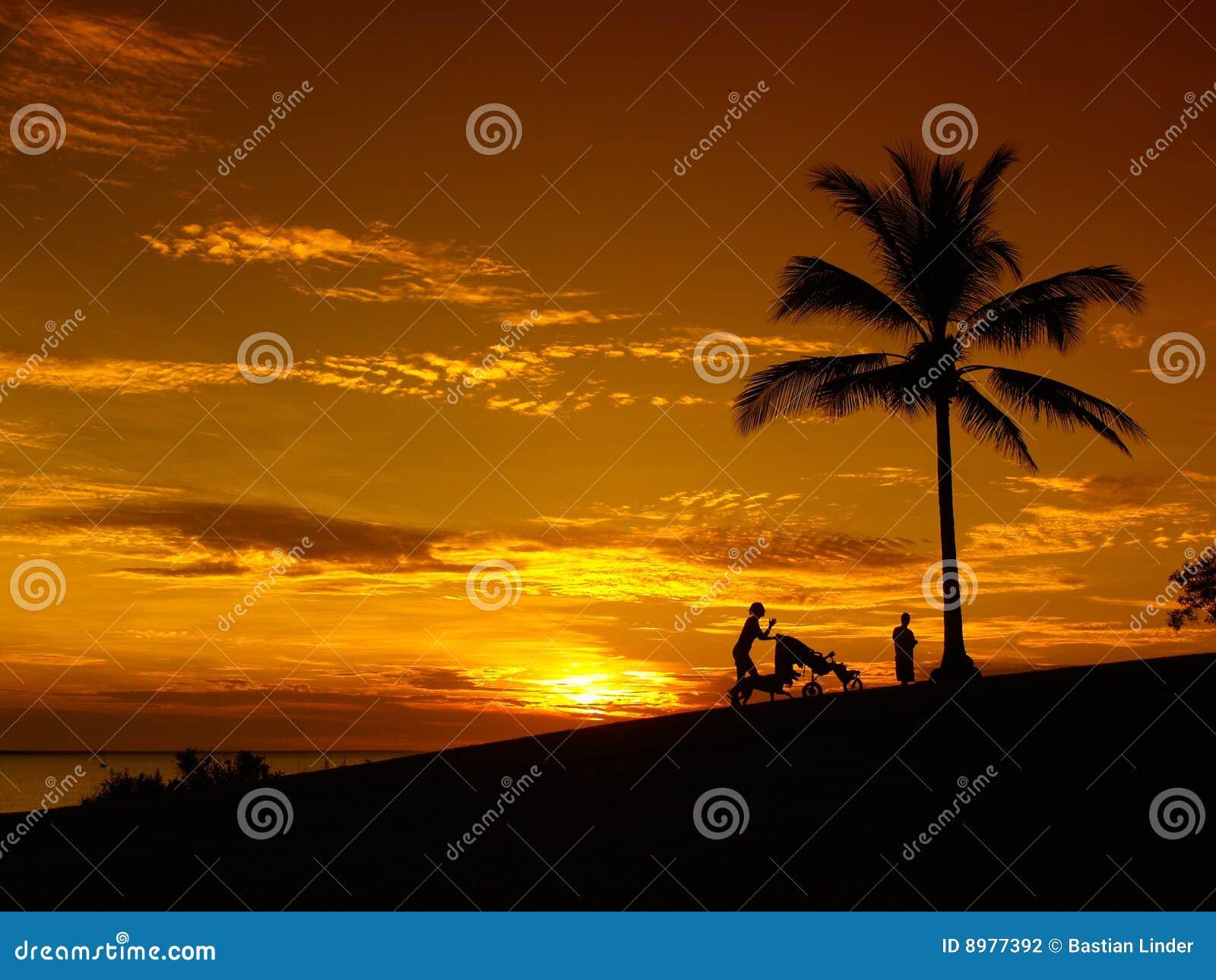 Por do sol Darwin