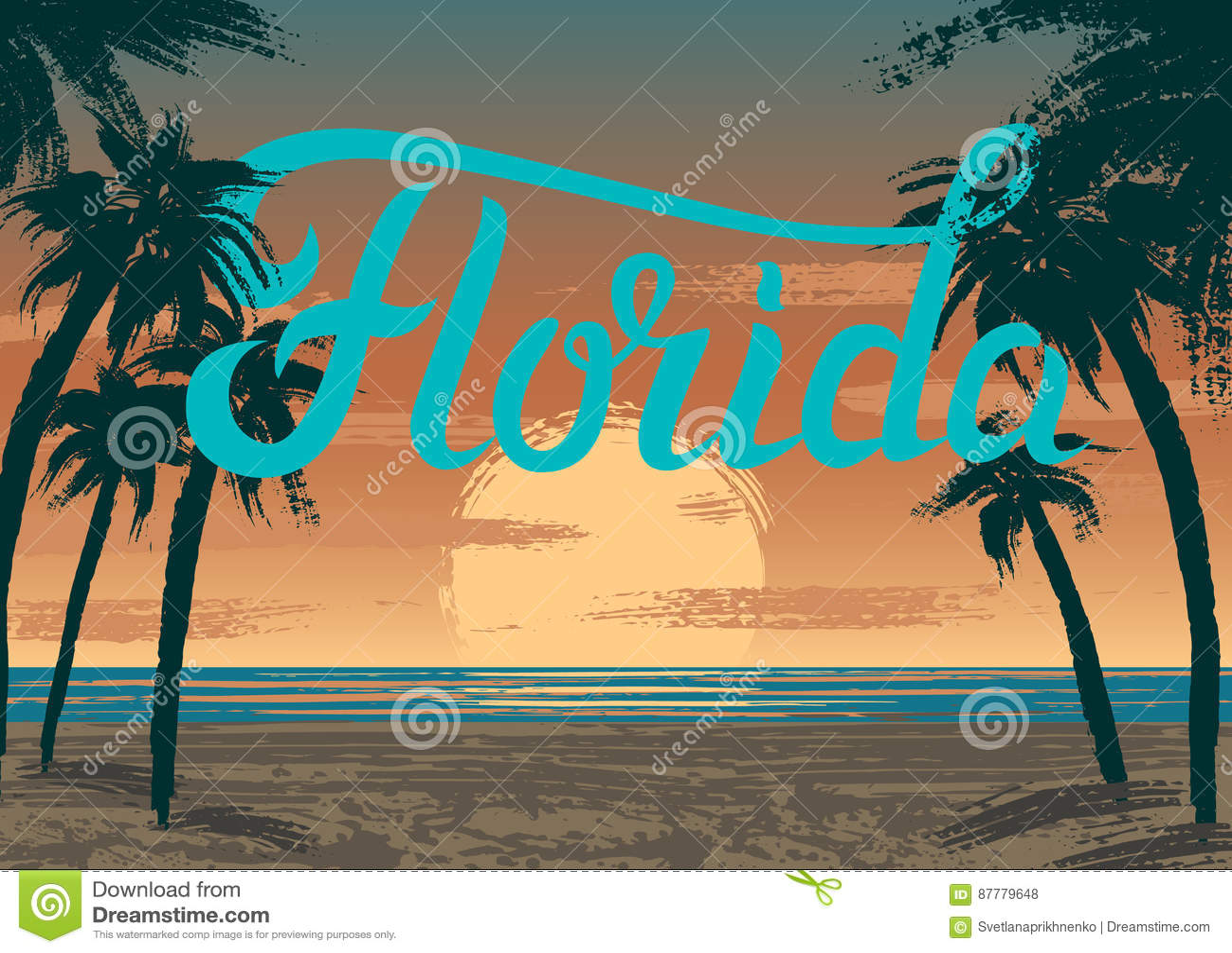 Por do sol de Florida
