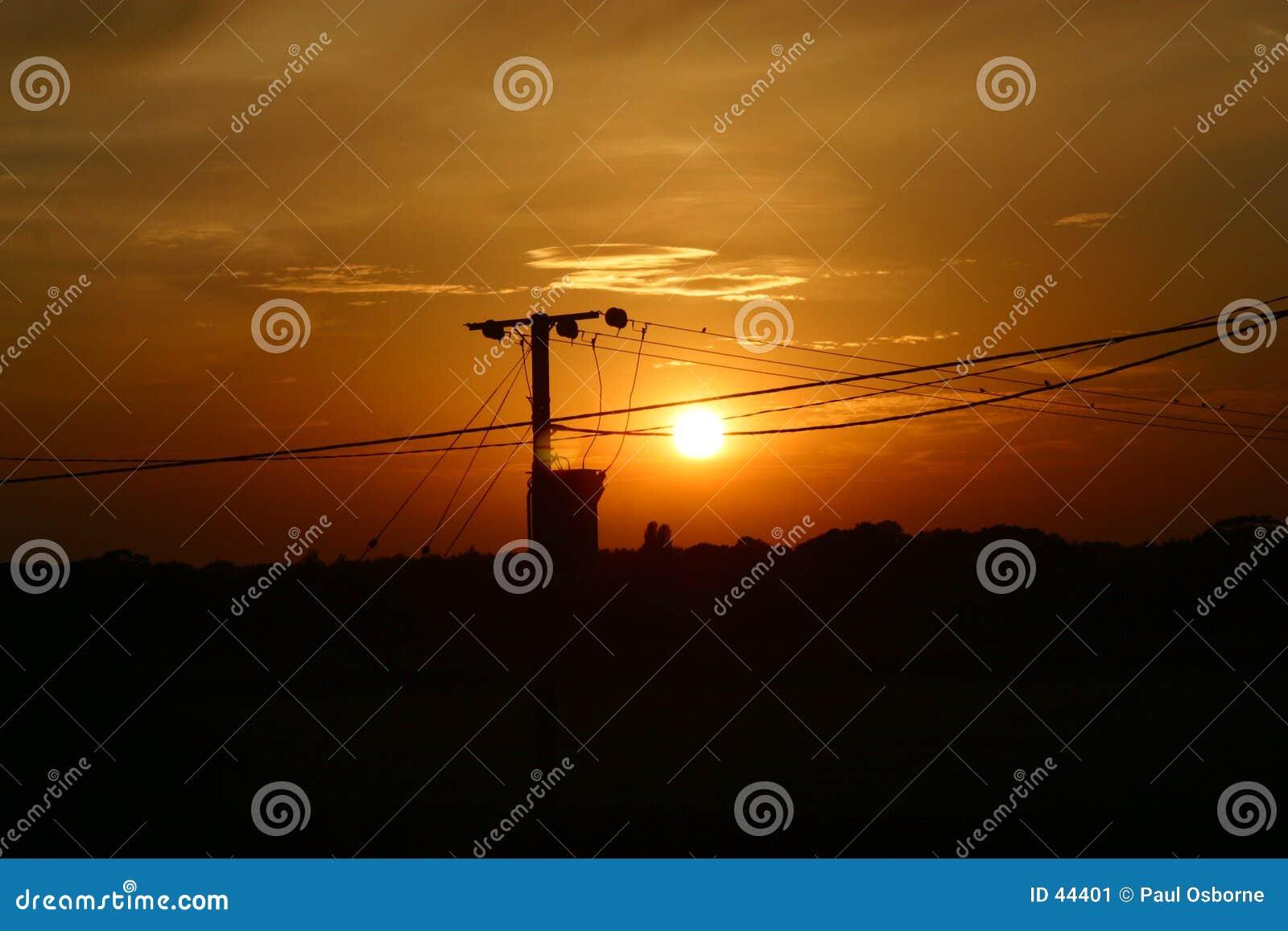 Por do sol de Heigham do oleiro