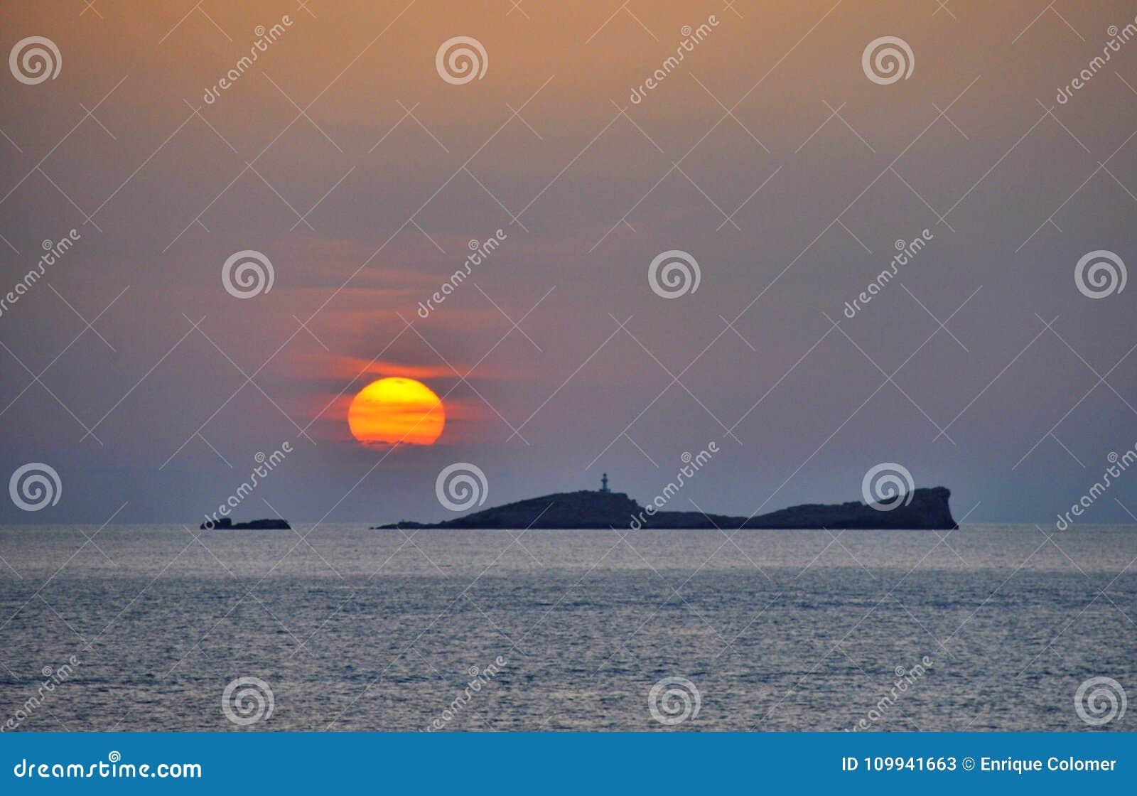 Por do sol de Ibiza