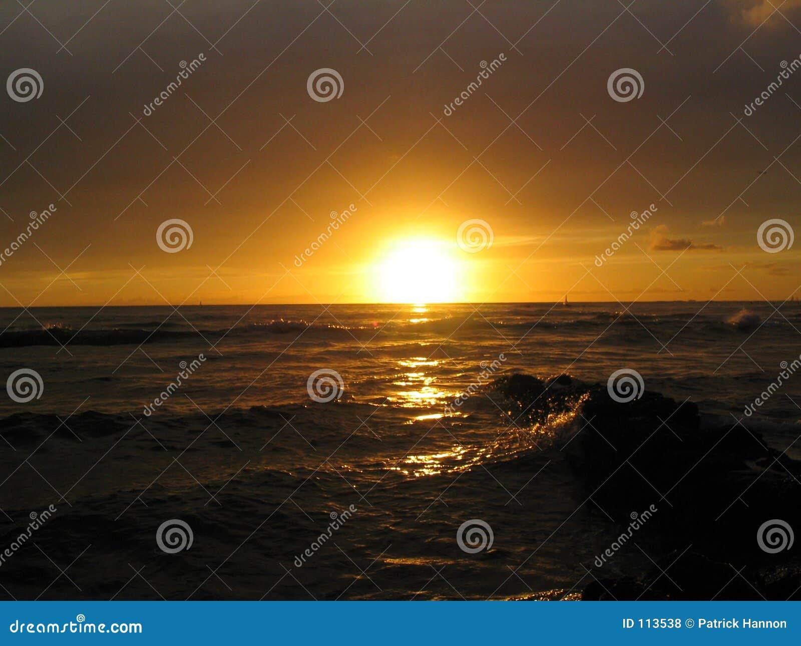 Por do sol de Waikiki