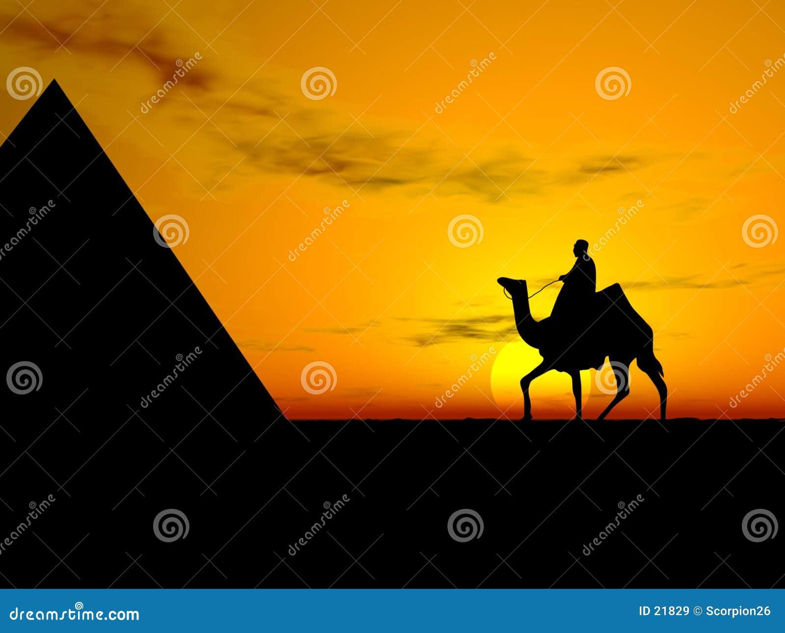 Por do sol do deserto