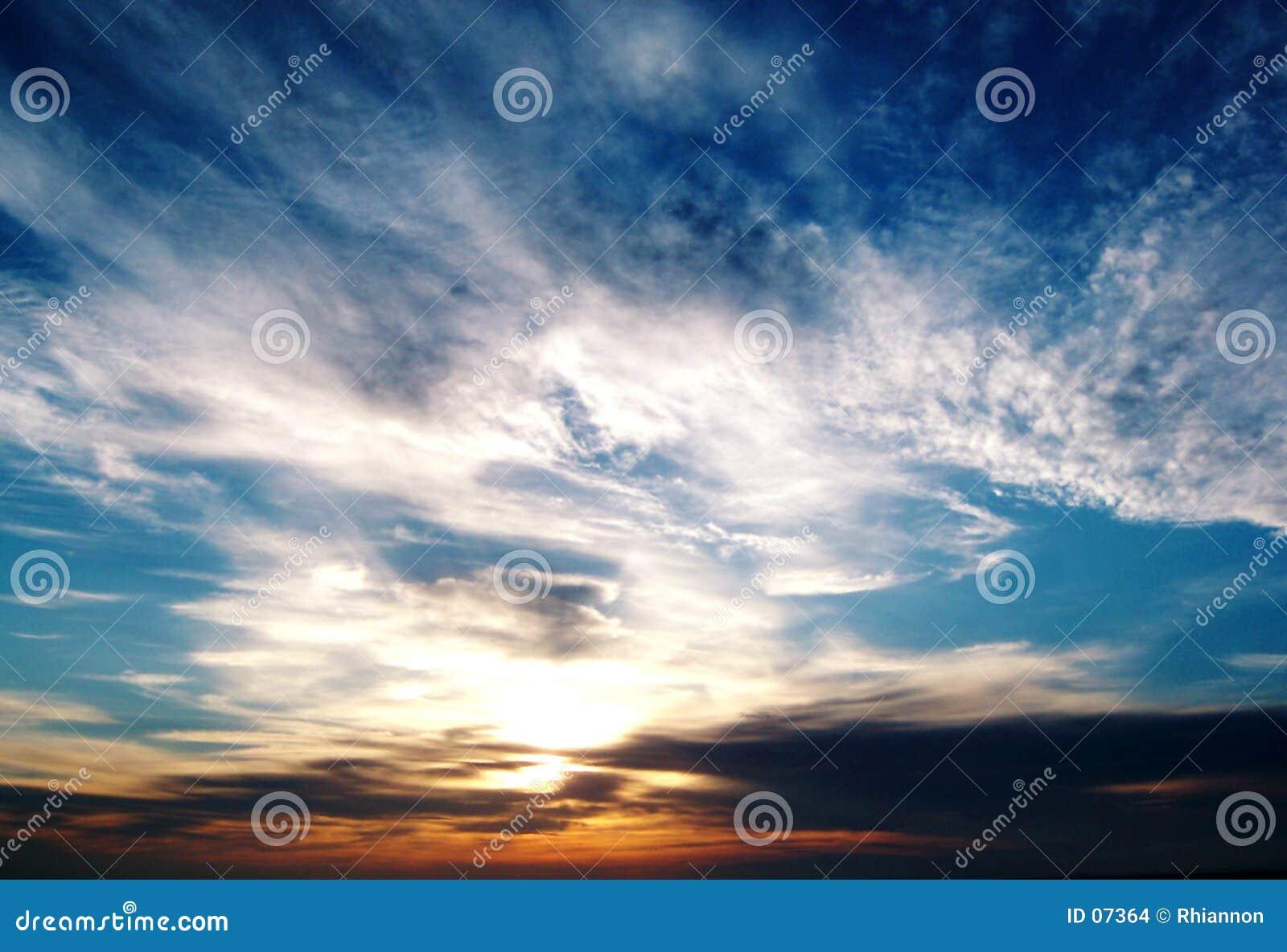 Por do sol do louro de Morecambe