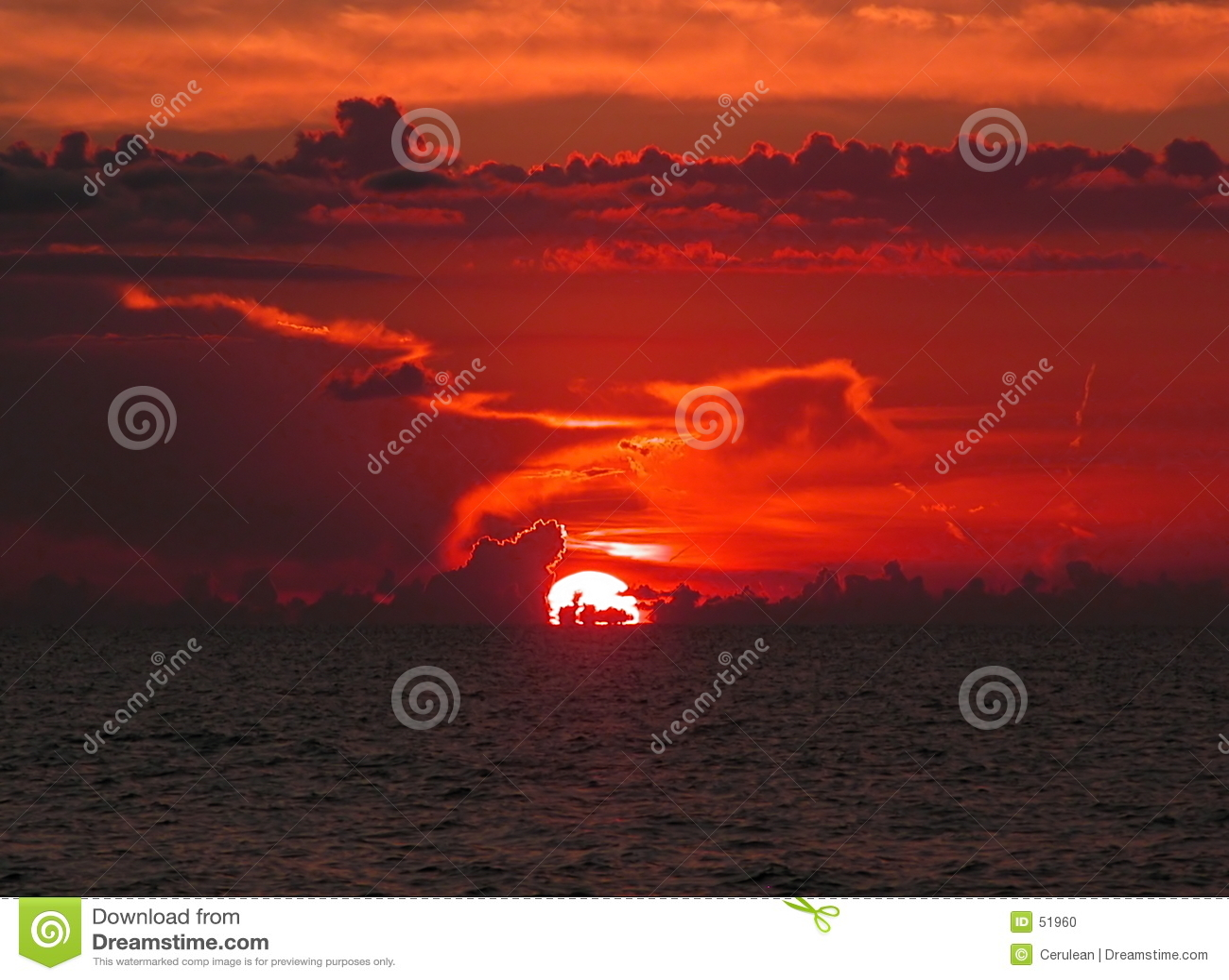 Por do sol do oceano